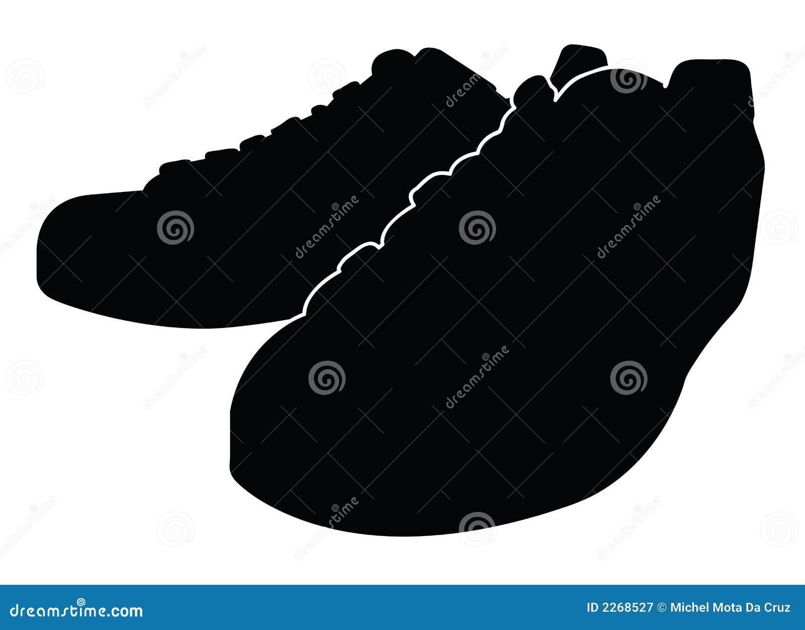 μαύρο διάνυσμα παπουτσιών