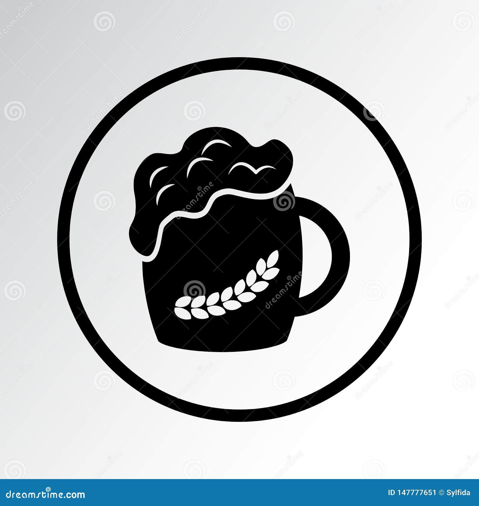 Μαύρο εικονίδιο μπύρας r