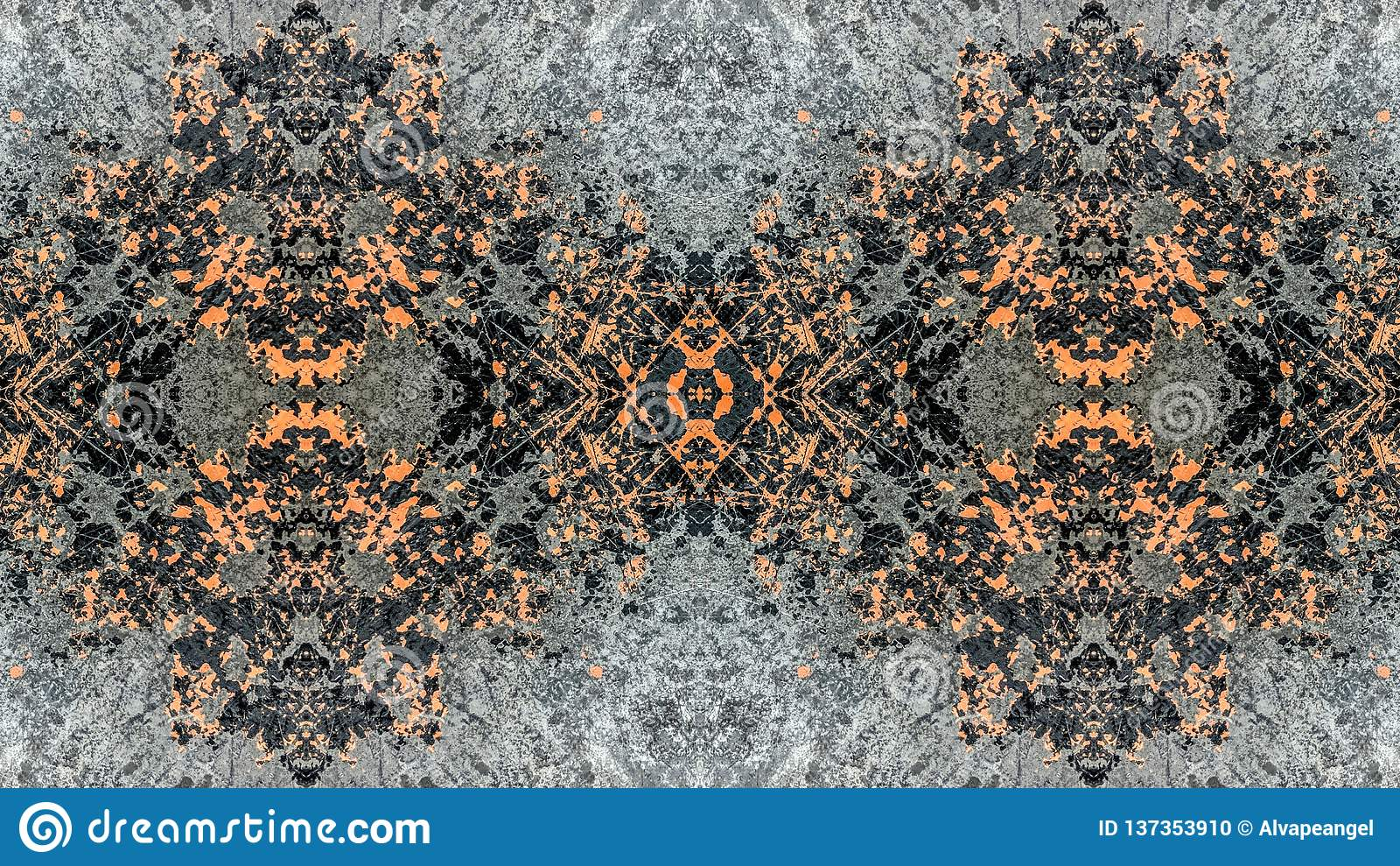 Μαύρο και πορτοκαλί ριγωτό αφηρημένο σχέδιο grunge