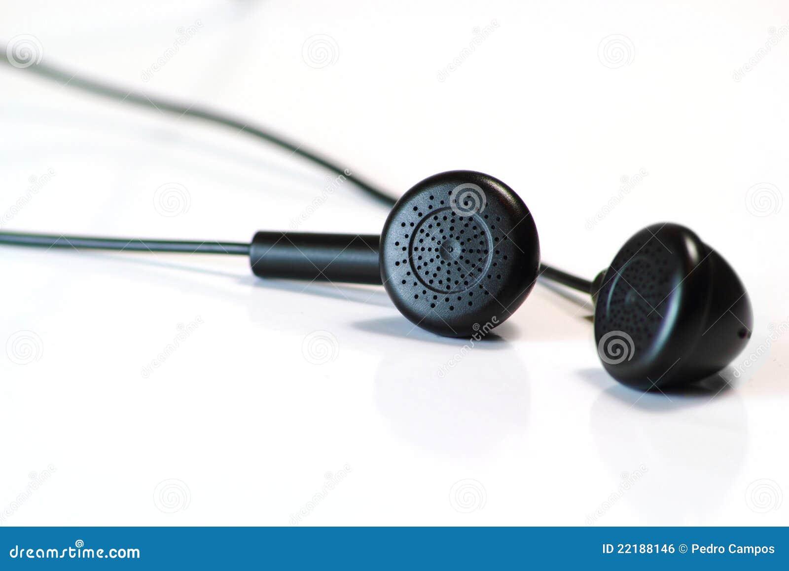 μαύρο λευκό ακουστικών