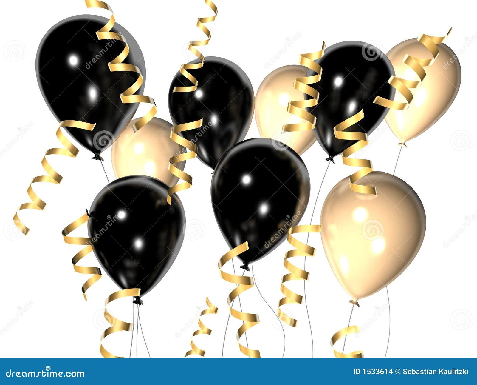 μαύρο λευκό μπαλονιών