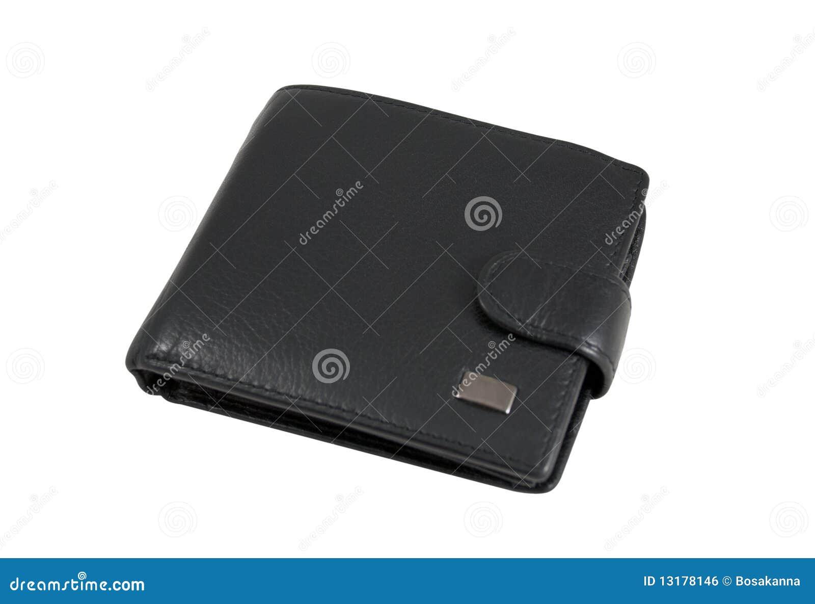 μαύρο πορτοφόλι δέρματος