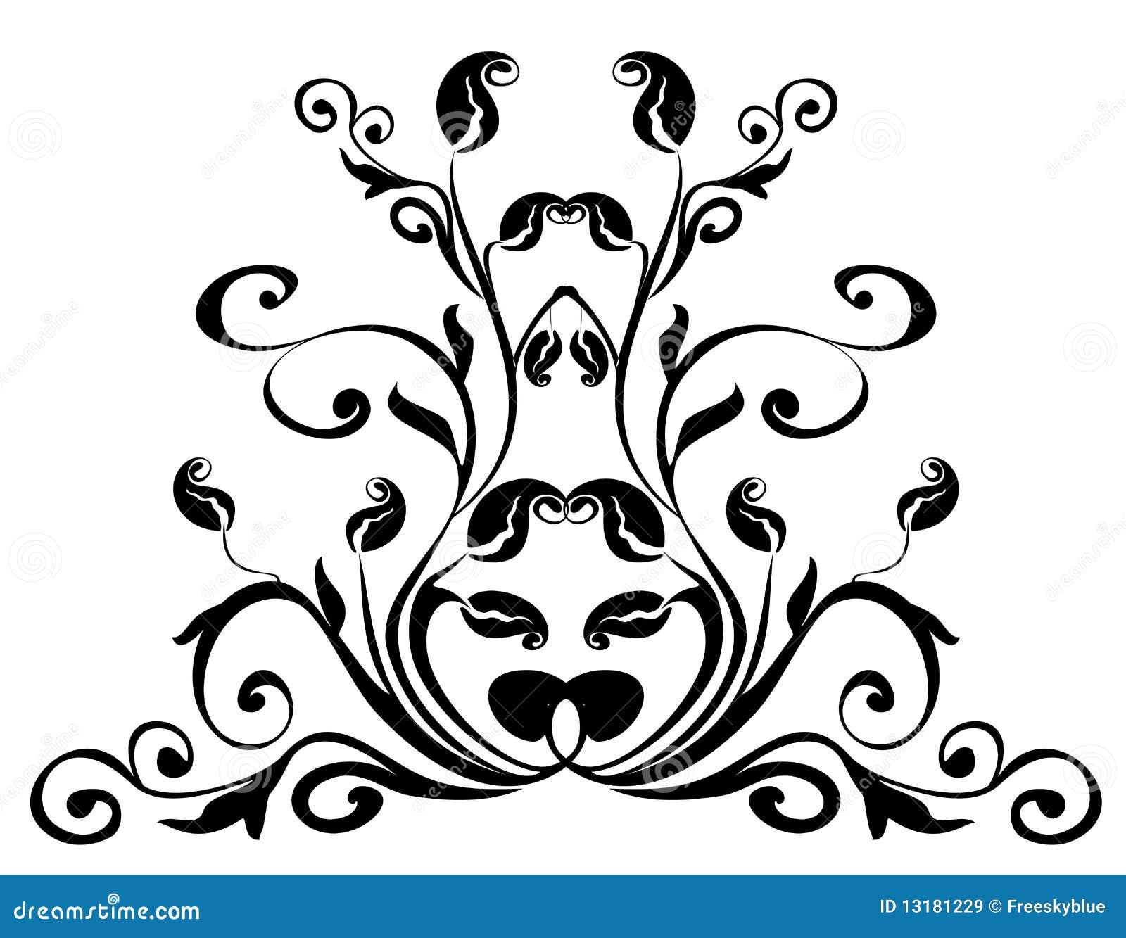 μαύρο πρότυπο λουλουδι