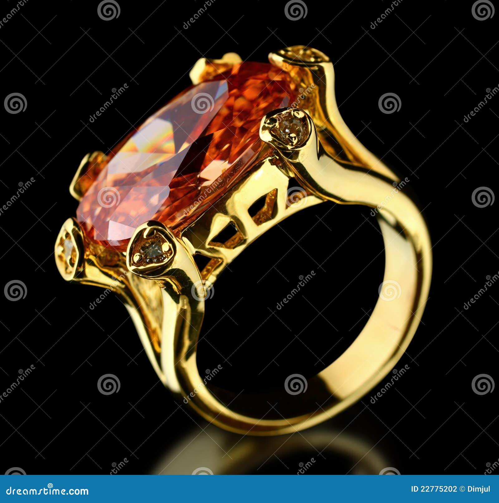 μαύρο χρυσό δαχτυλίδι πο&lambd