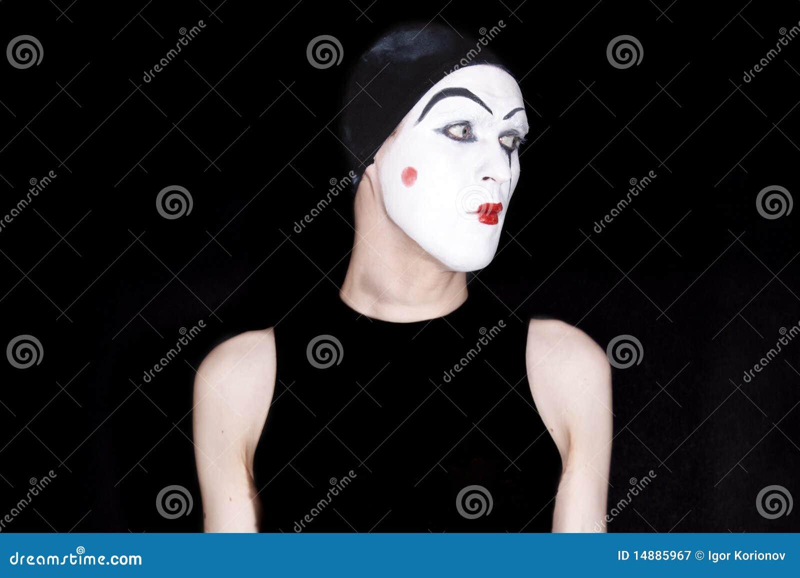 μαύρο mime ανασκόπησης