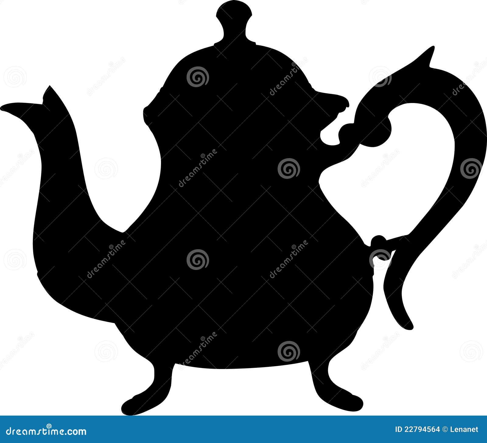 μαύρο teapot