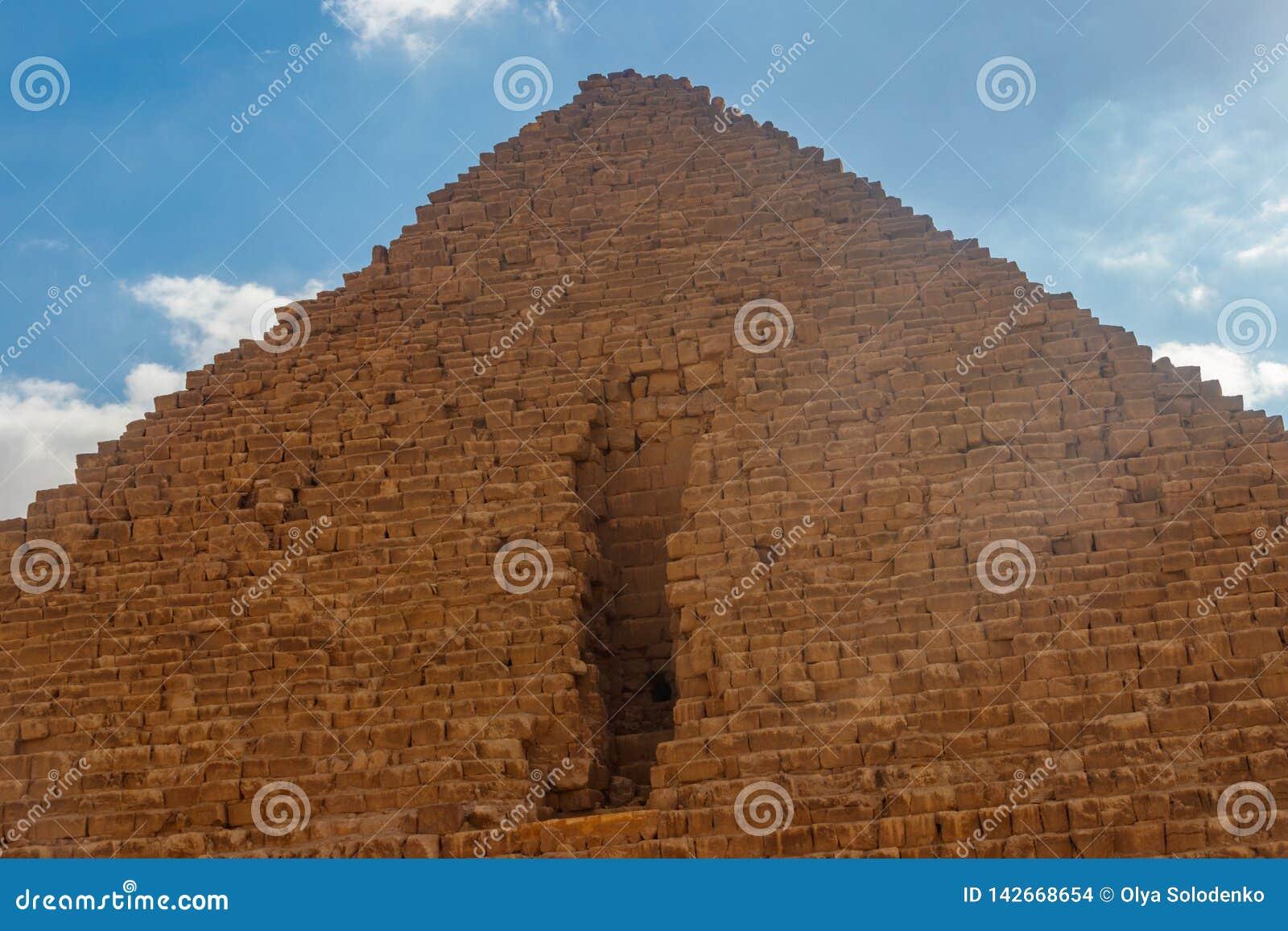 Μεγάλη πυραμίδα Giza γνωστού επίσης ως πυραμίδα Khufu ή πυραμίδα Cheops
