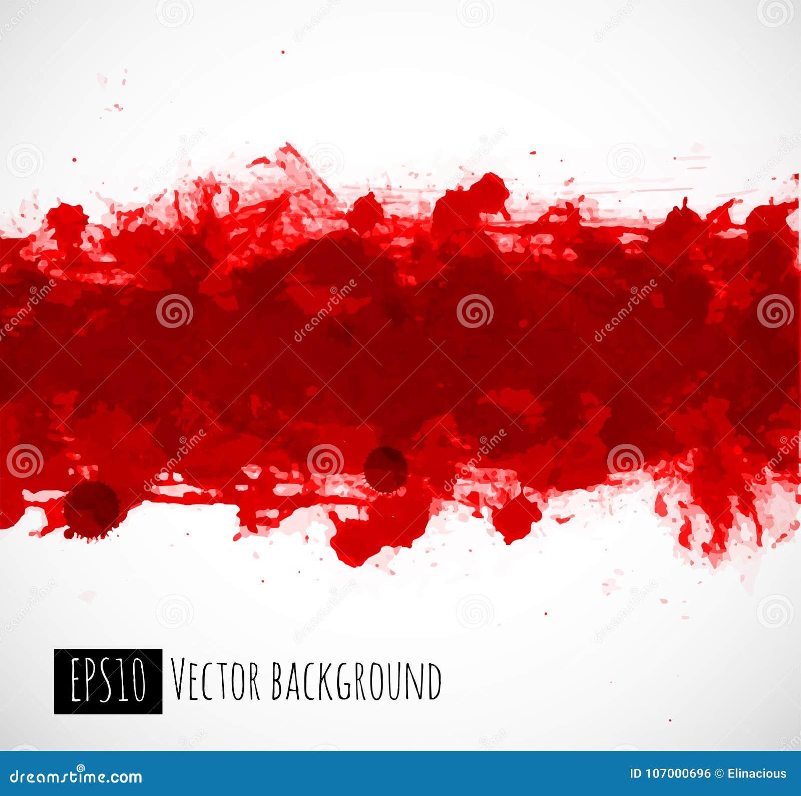 Μεγάλος φωτεινός κόκκινος παφλασμός αίματος grunge στο άσπρο υπόβαθρο