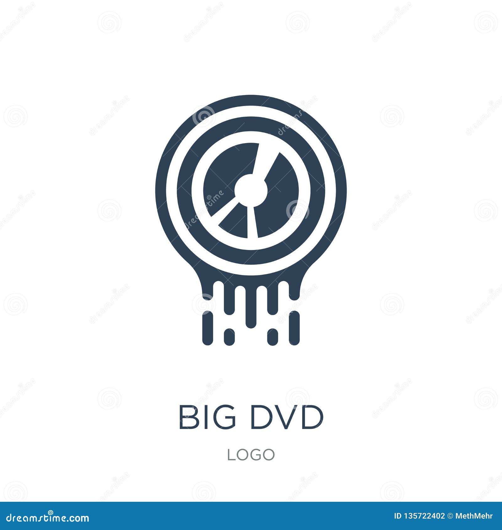 μεγάλο εικονίδιο dvd στο καθιερώνον τη μόδα ύφος σχεδίου μεγάλο εικονίδιο dvd που απομονώνεται στο άσπρο υπόβαθρο μεγάλο απλό και