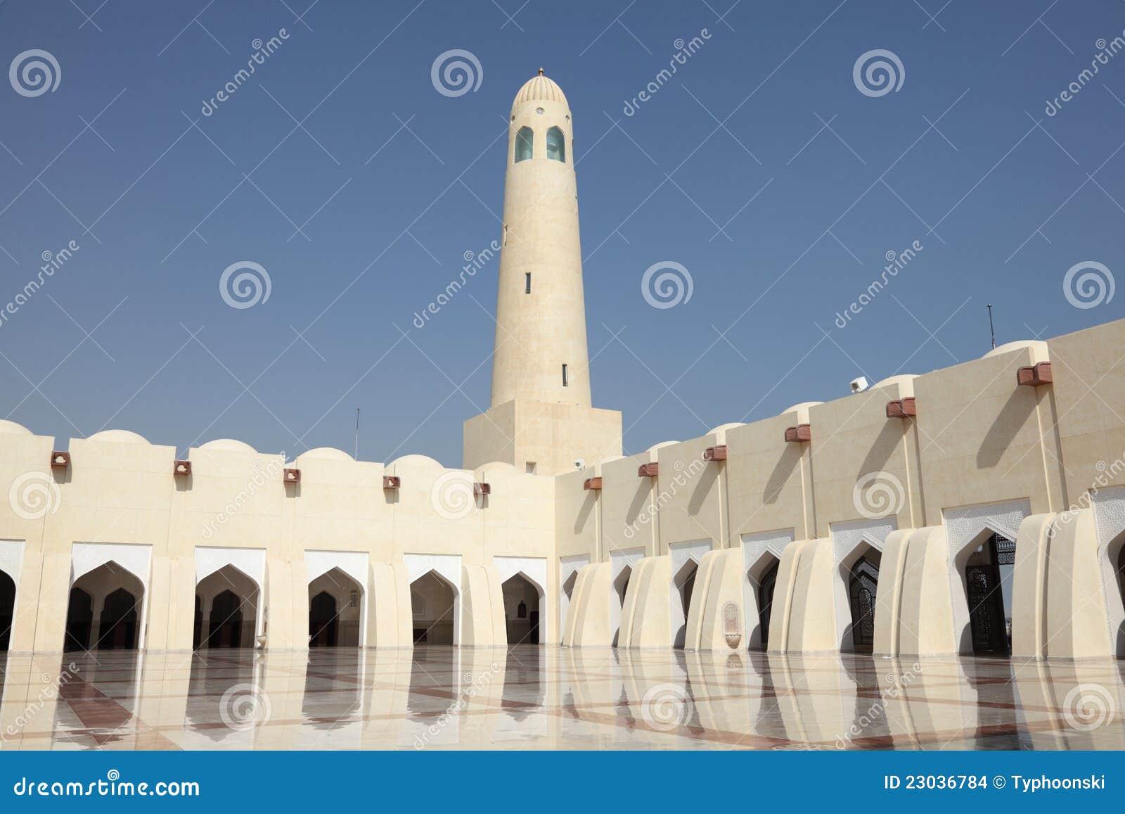 μεγάλο κράτος του Κατάρ μουσουλμανικών τεμενών doha