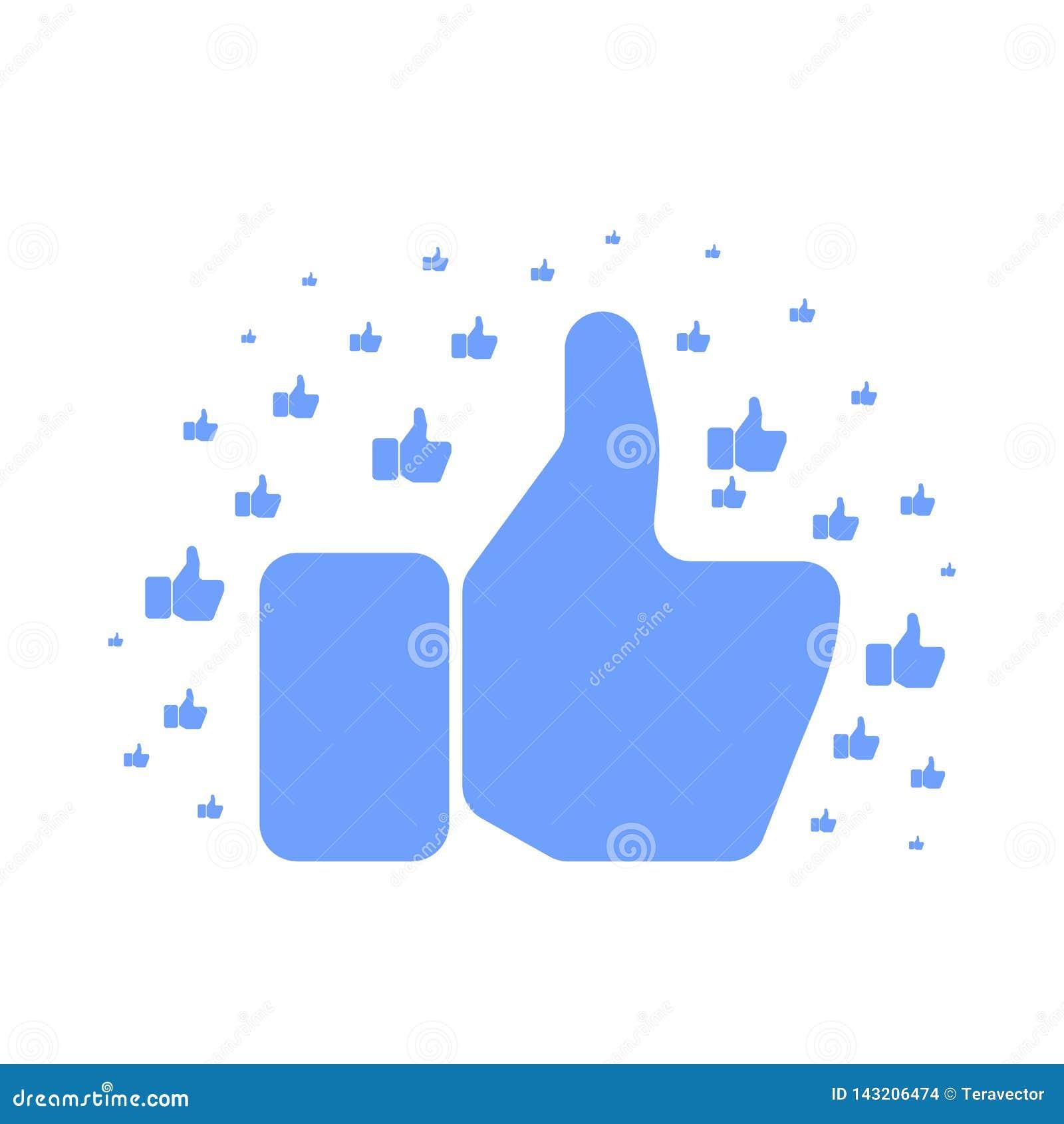 Μεγάλο μπλε χέρι που παρουσιάζει αντίχειρα επάνω στο σχέδιο στο λευκό