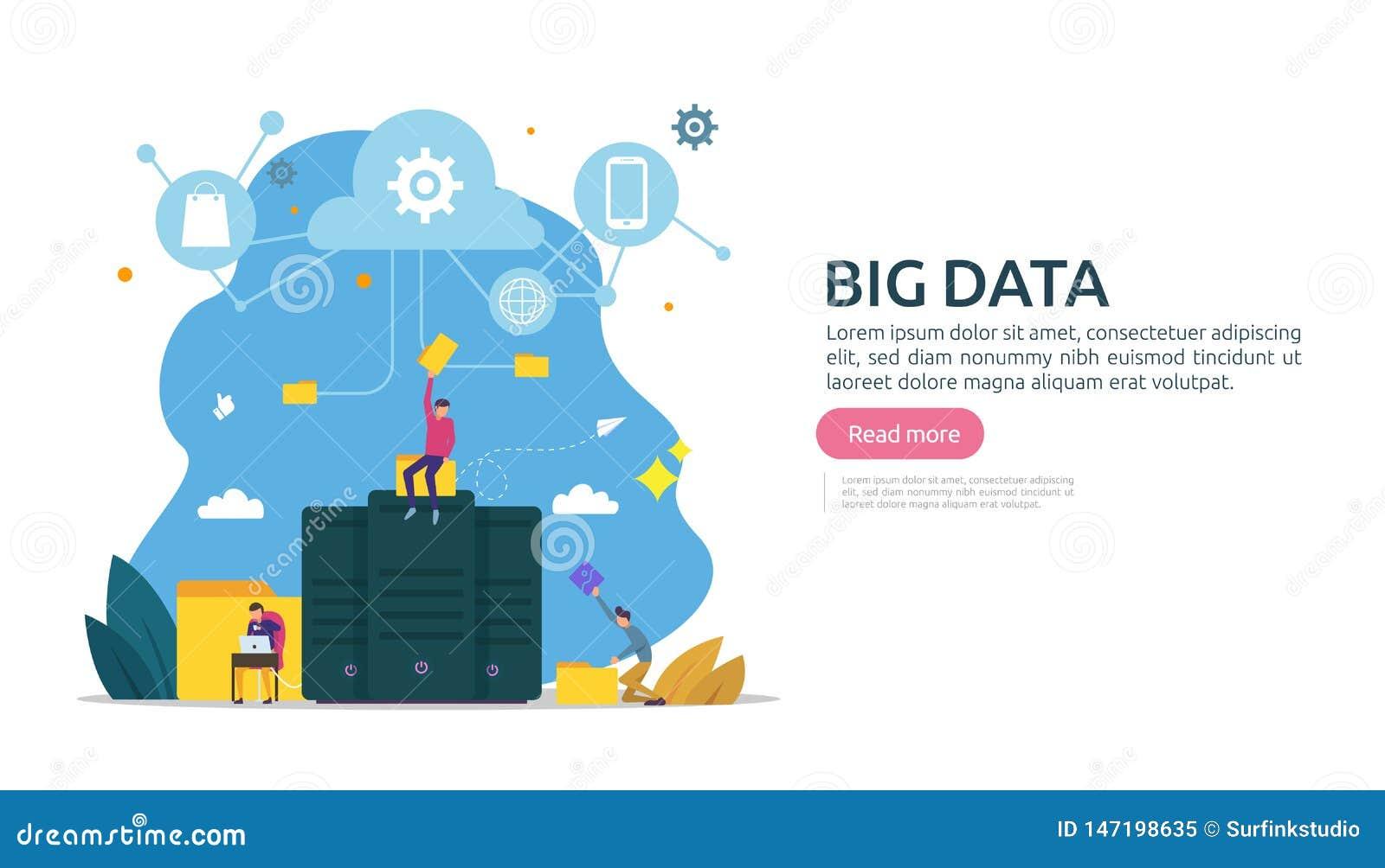 μεγάλο στοιχείων και ανάλυσης επεξεργασίας πρότυπο σελίδων έννοιας προσγειωμένος υπηρεσία βάσεων δεδομένων σύννεφων, ράφι κεντρικ