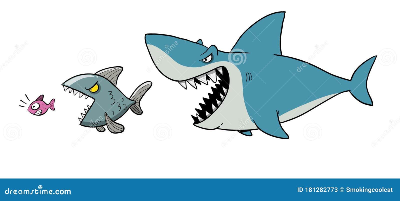 μεγάλο ψάρι τρώει μικρό ψάρι