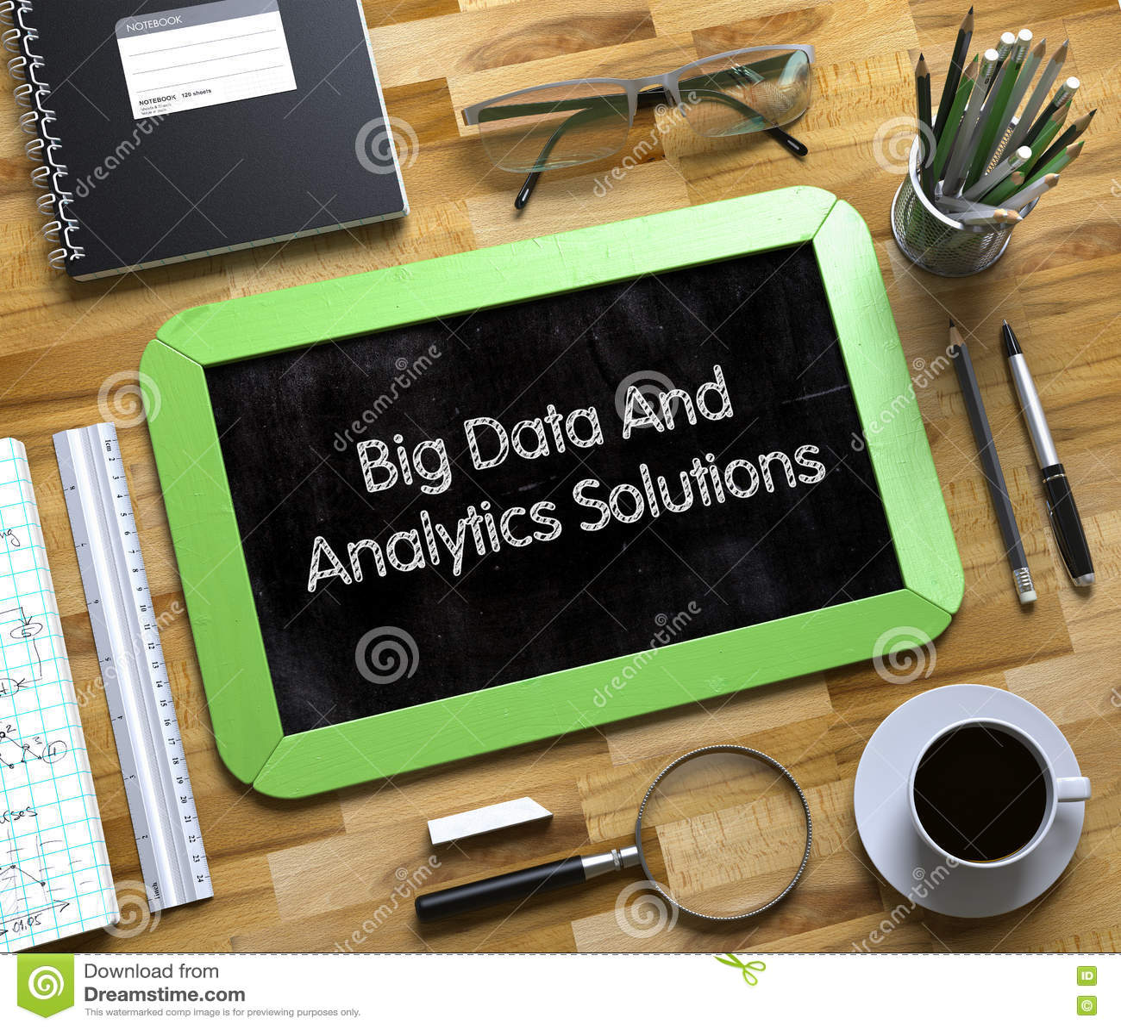 Μεγάλες στοιχεία και λύσεις Analytics στο μικρό πίνακα κιμωλίας τρισδιάστατος