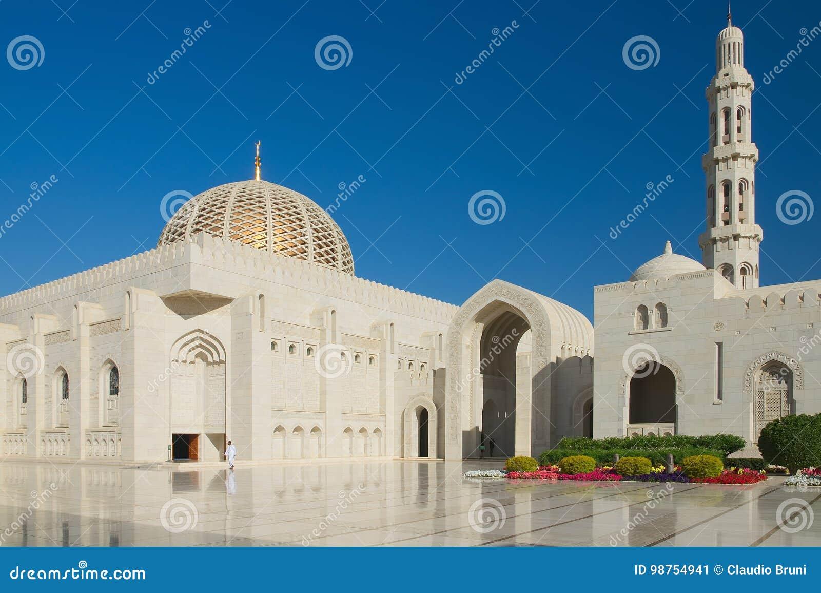 Μεγάλο μουσουλμανικό τέμενος Qaboos σουλτάνων - Muscat