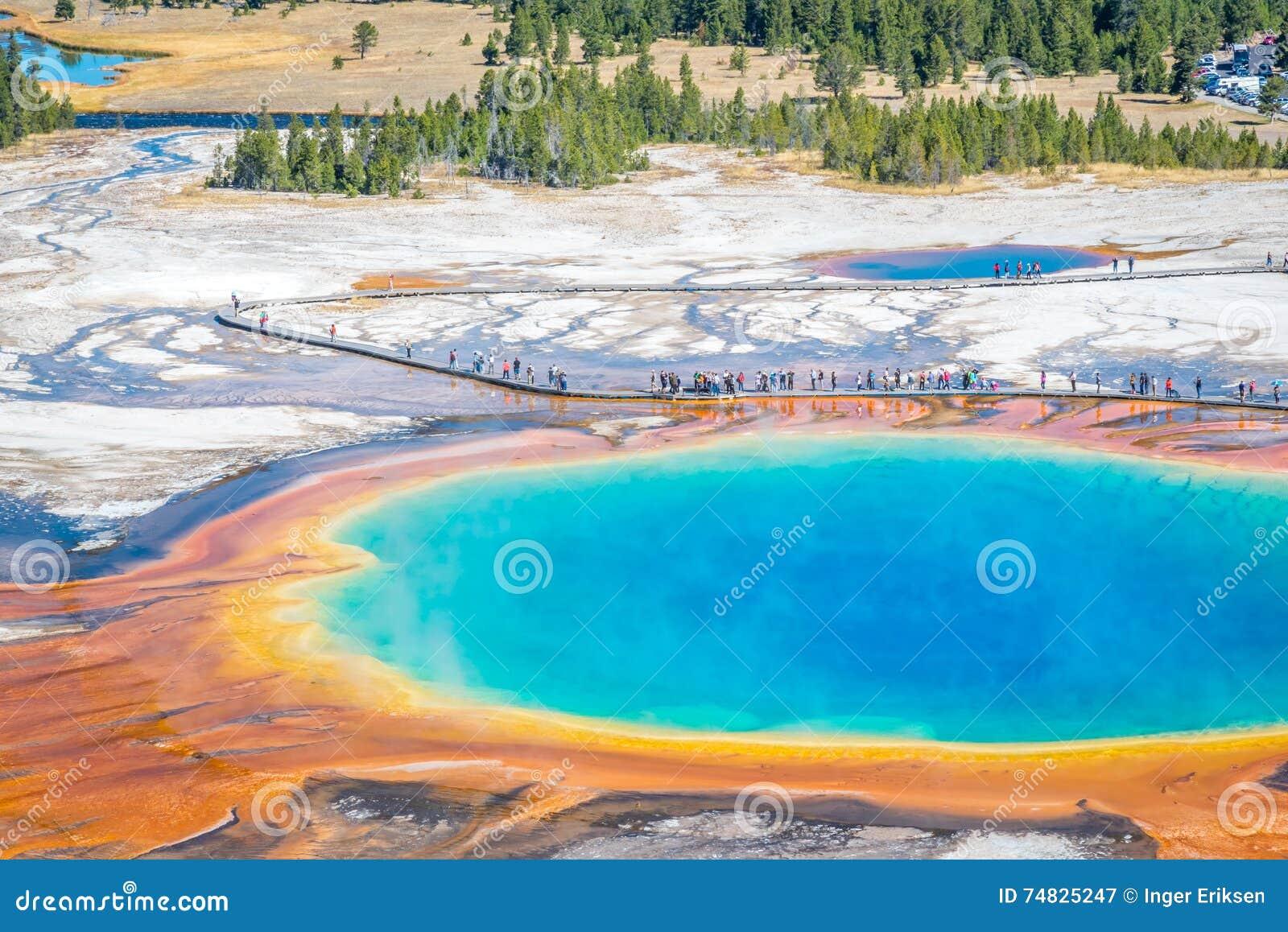 Μεγάλο Prismatic καυτό εθνικό πάρκο Yellowstone ανοίξεων