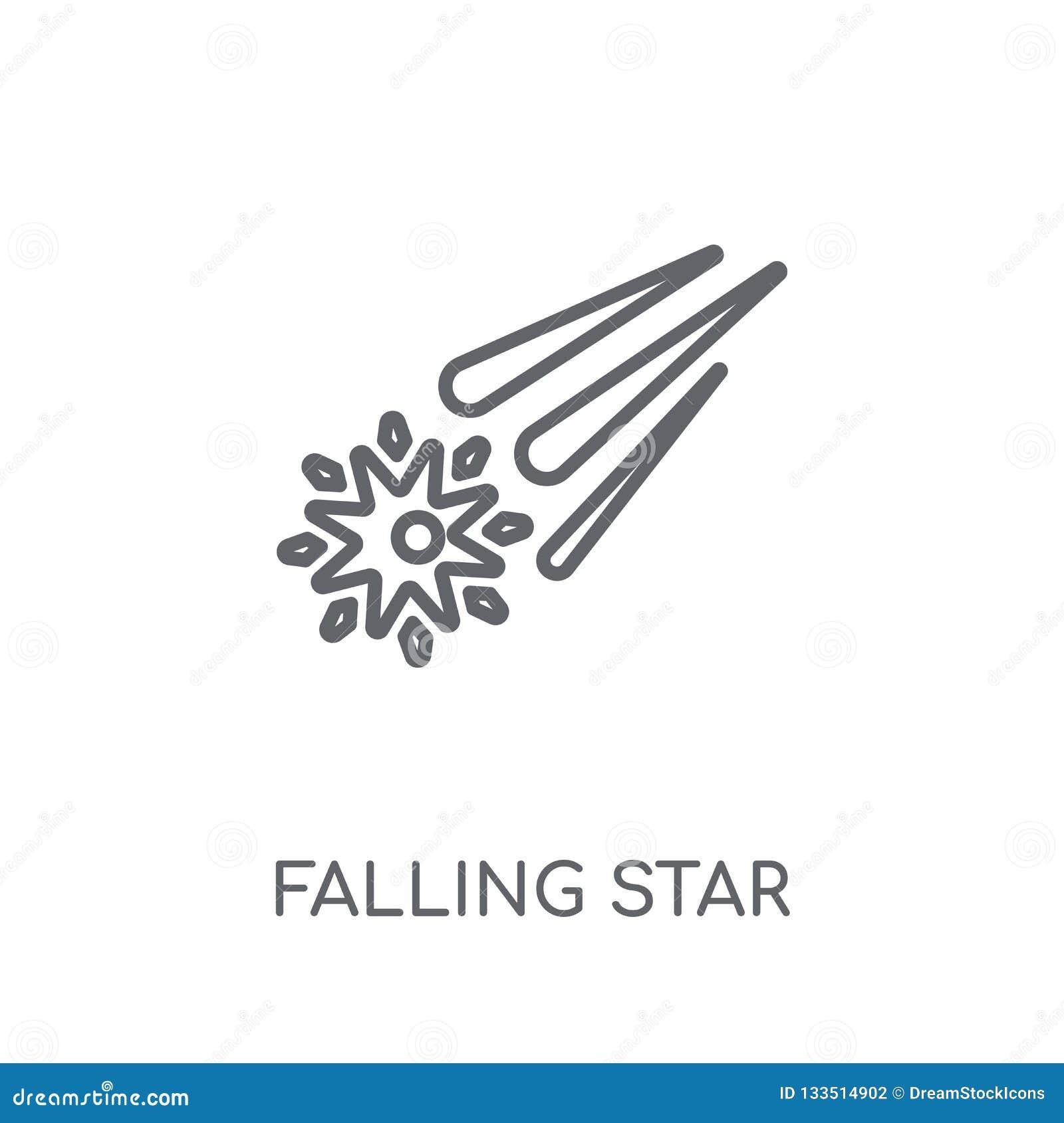 Μειωμένο γραμμικό εικονίδιο αστεριών Σύγχρονο conce λογότυπων αστεριών πτώσης περιλήψεων