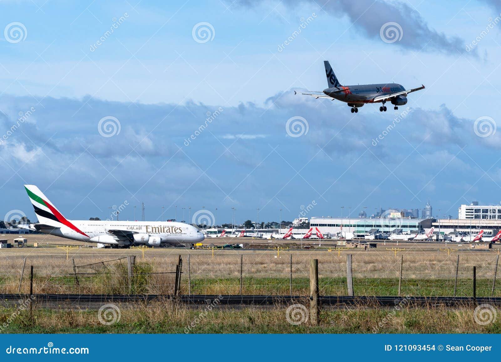 Μελβούρνη, Βικτώρια, Αυστραλία - 21 Μαΐου 2018: Airbus εναέριων διαδρόμων Jetstar A320