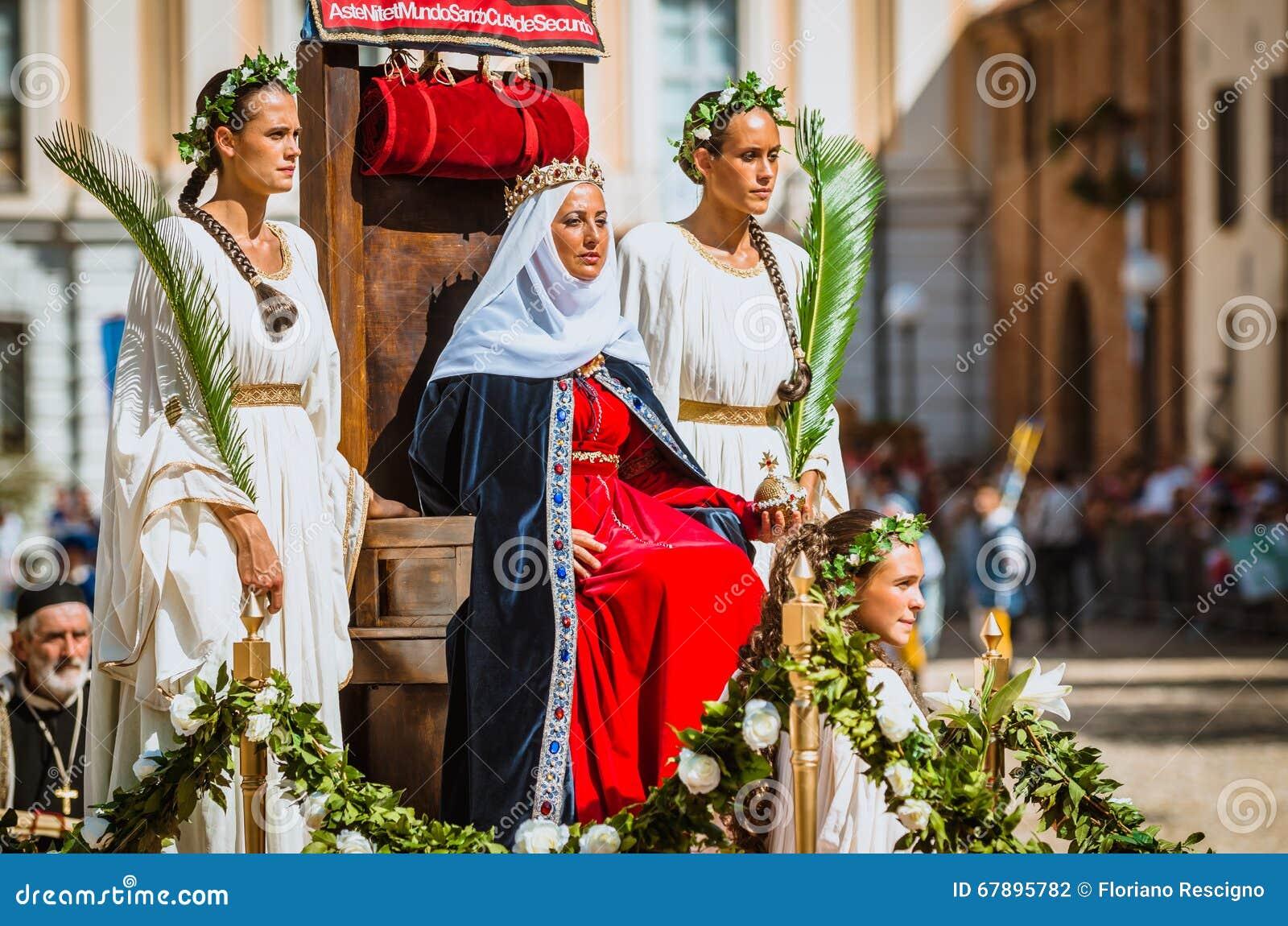 μεσαιωνική συνεδρίαση πριγκηπισσών στο θρόνο