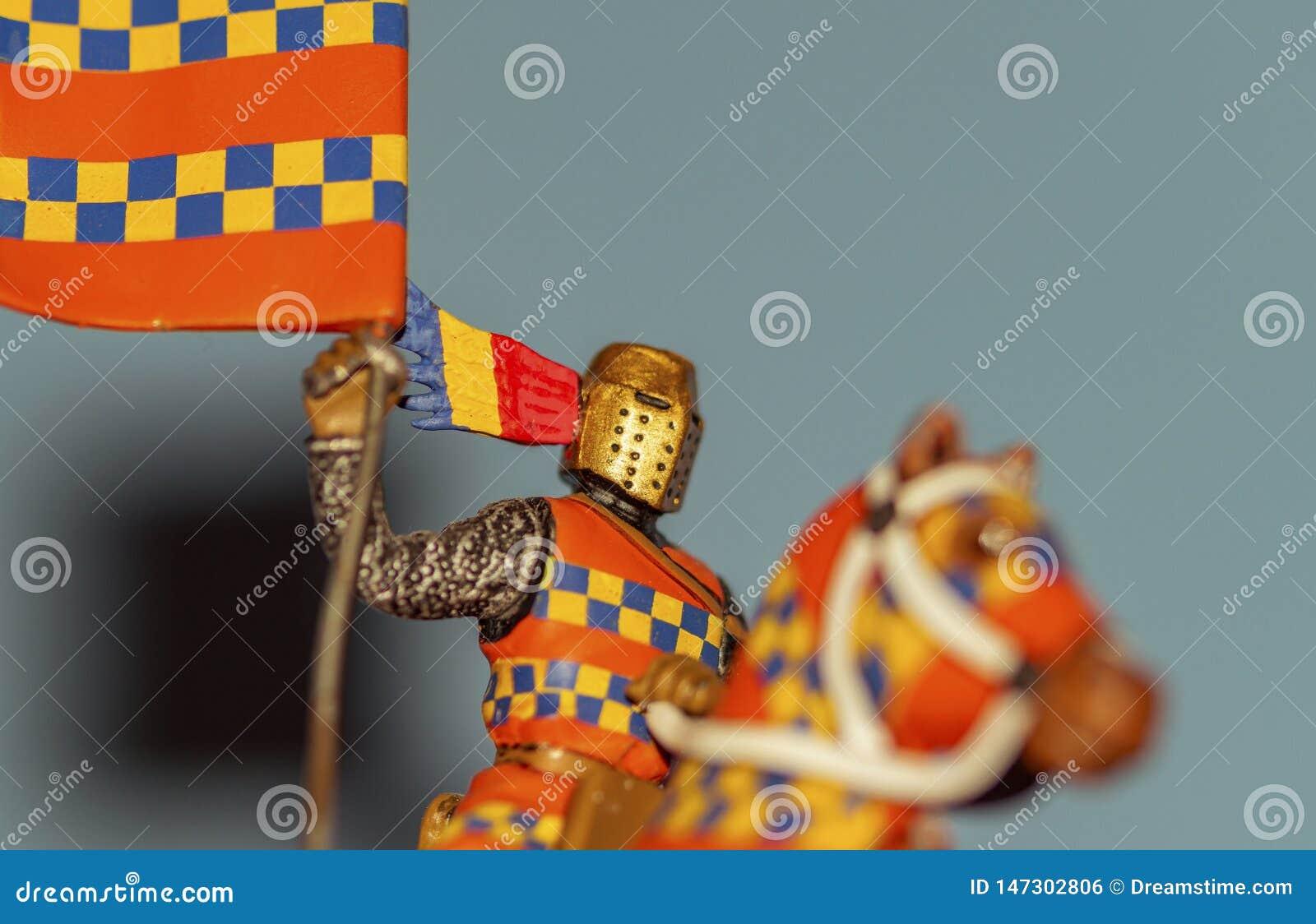 Μεσαιωνικός ιππότης του μολύβδου, τυποποιημένος-φορέας και έξυπνα χρώματα