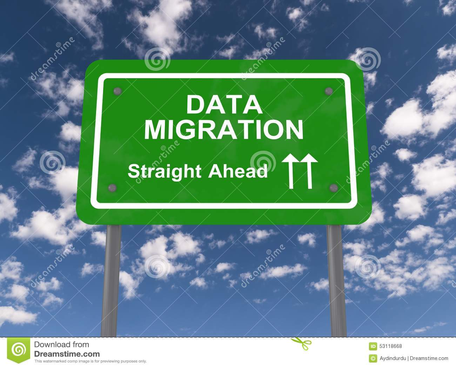 Μετανάστευση στοιχείων κατ  ευθείαν μπροστά
