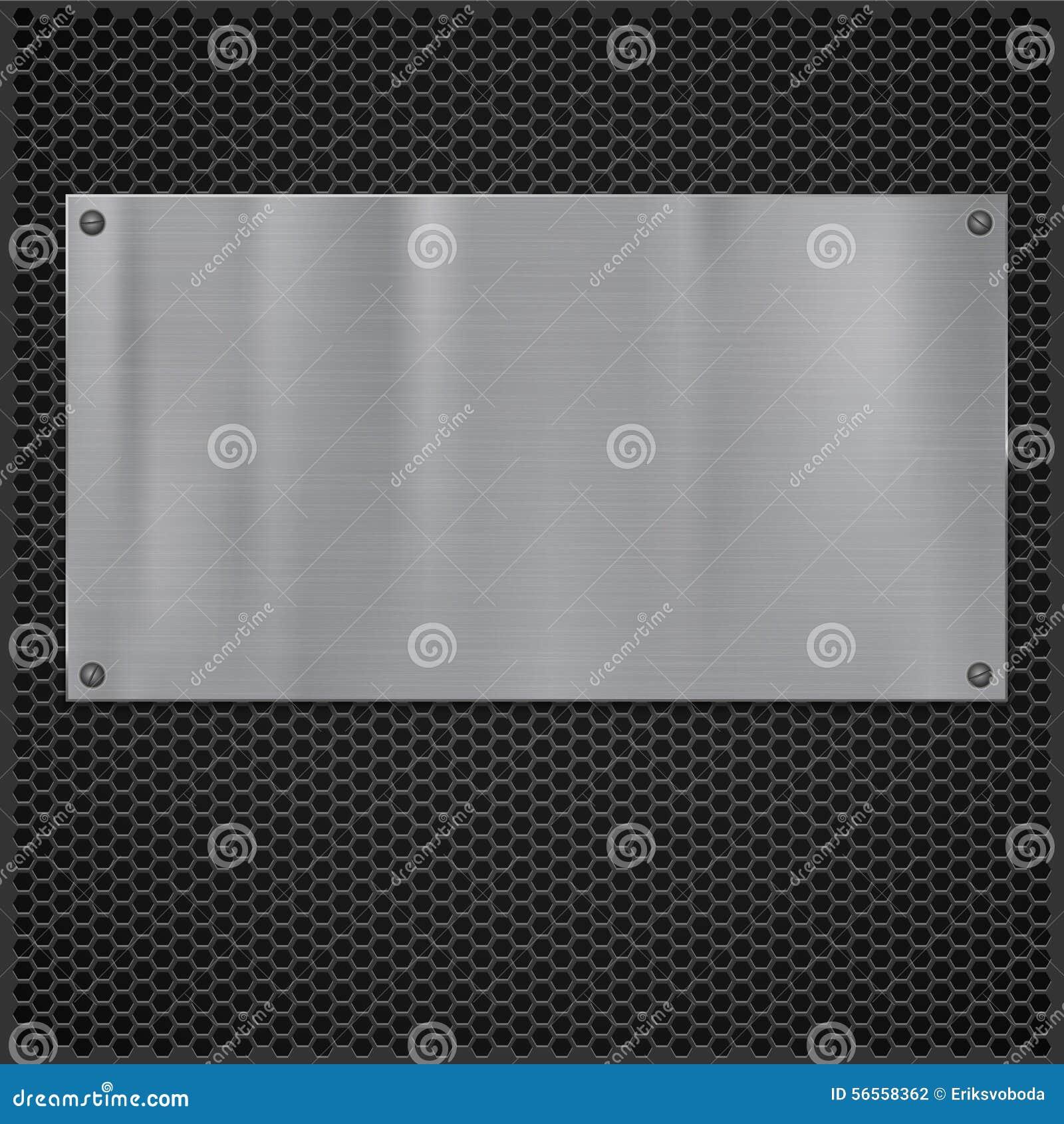 Download Μεταλλικό πιάτο πέρα από τη σύσταση σχαρών Διανυσματική απεικόνιση - εικονογραφία από ανασκόπησης, μακροεντολή: 56558362