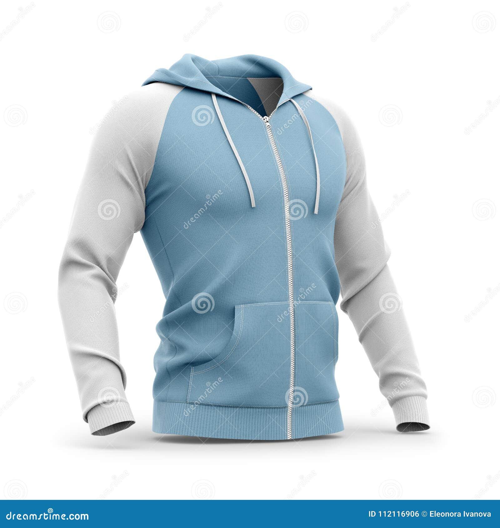 Με κουκούλα φερμουάρ-επάνω μπλούζα ατόμων ` s