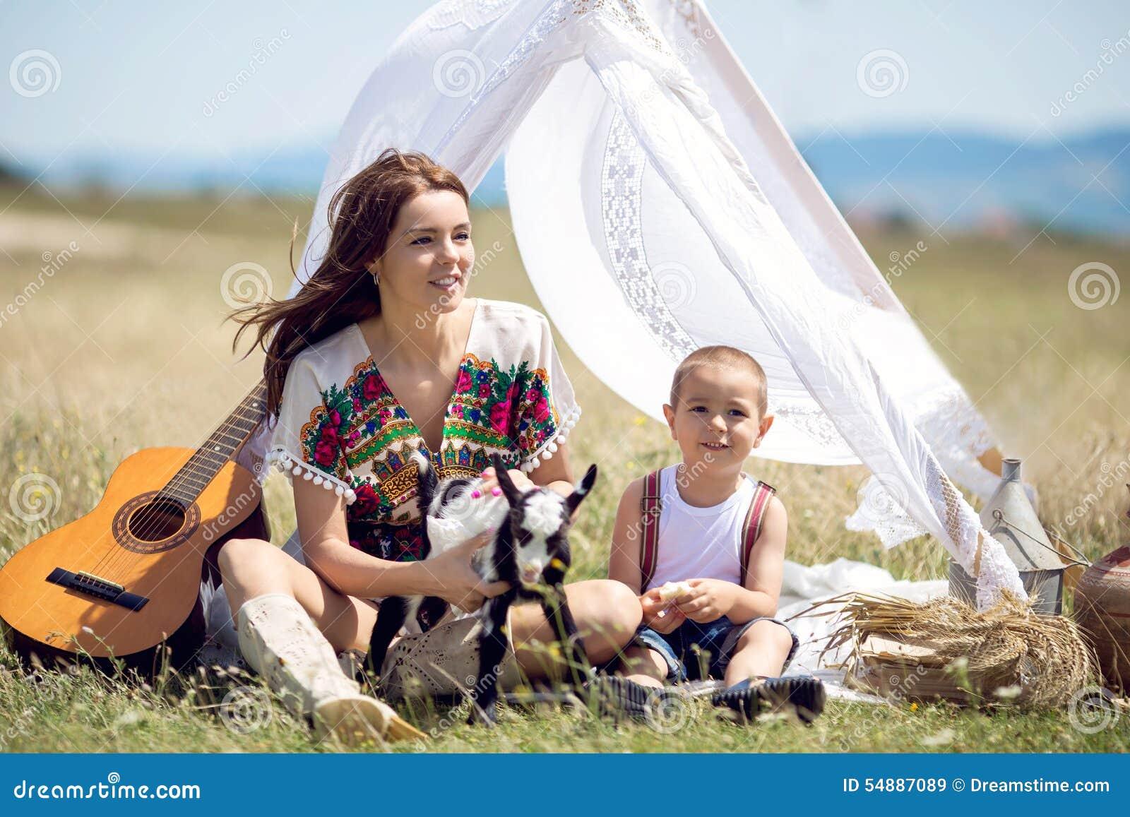 Μητέρα και γιος στον τομέα