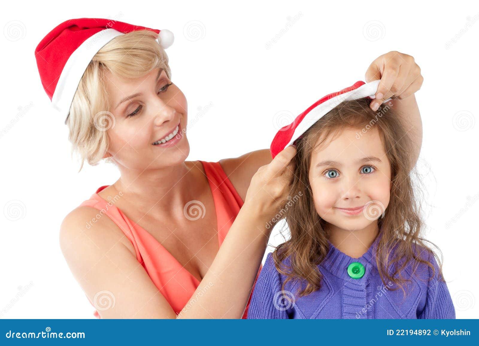 μητέρα καπέλων κορών Χριστ&omicron