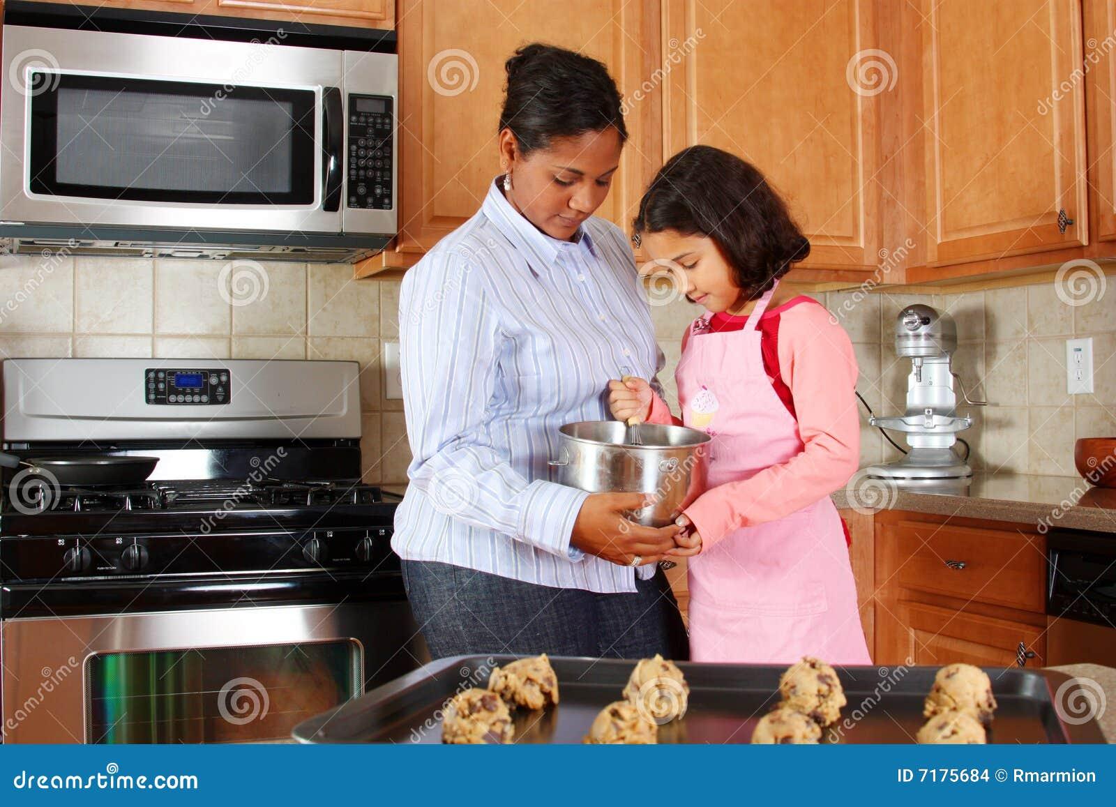 μητέρα κοριτσιών μπισκότων