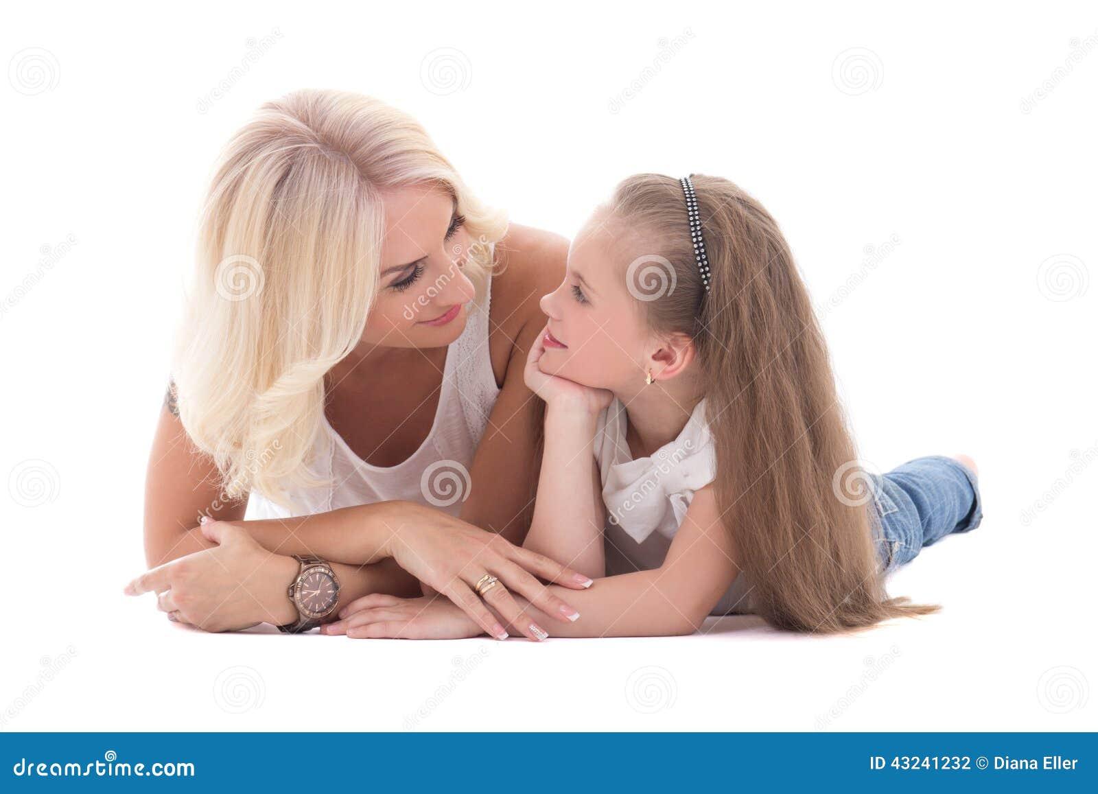 Μητέρα που μιλά με την λίγη κόρη που βρίσκεται στο isola πατωμάτων
