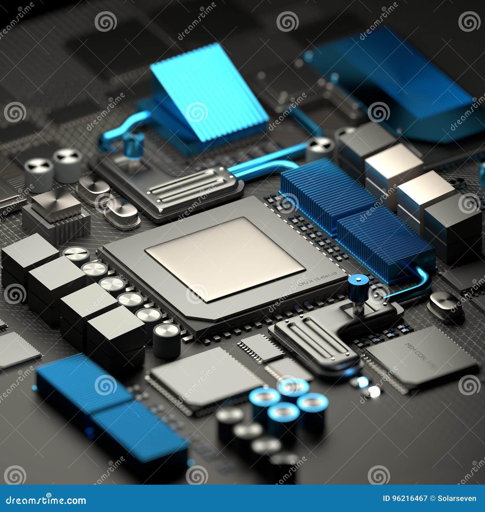 Μητρική κάρτα και υπόβαθρο τεχνολογίας ΚΜΕ