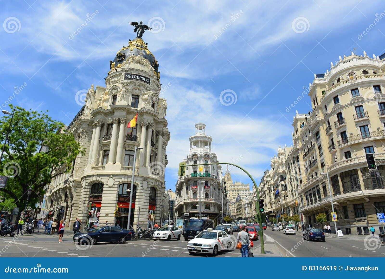 Μητρόπολη και χλοώδες κτήριο, Μαδρίτη, Ισπανία