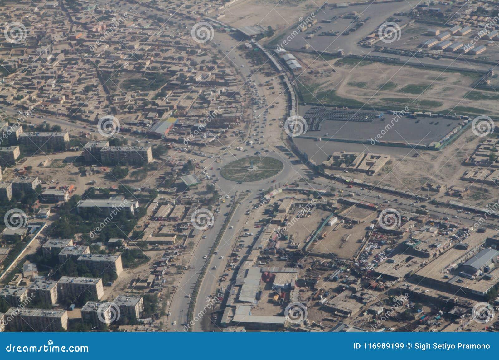 Μια άλλη πλευρά του τοπίου άποψης πόλεων του Καμπούλ, Αφγανιστάν