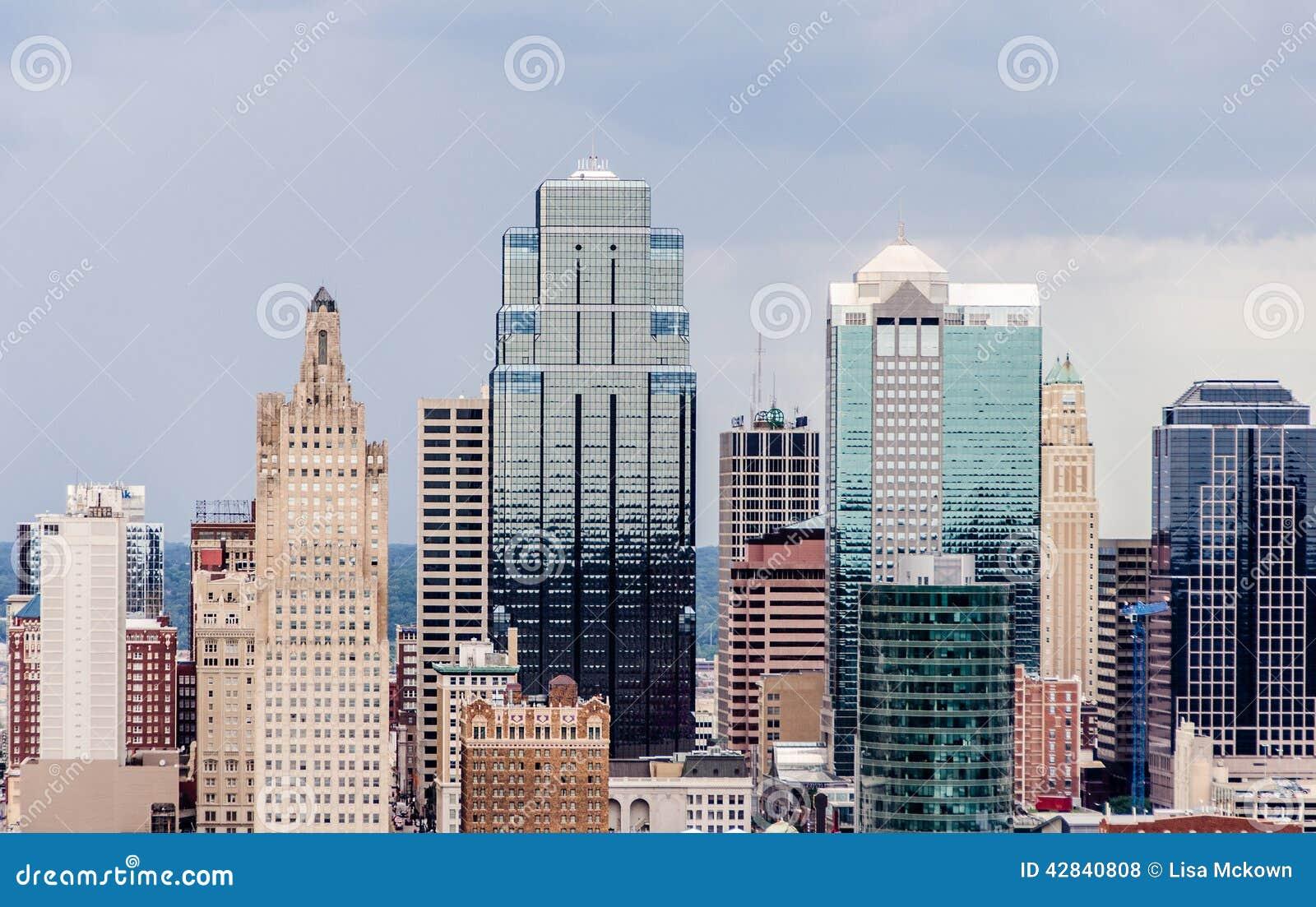 Μια άποψη της στο κέντρο της πόλης πόλης του Κάνσας