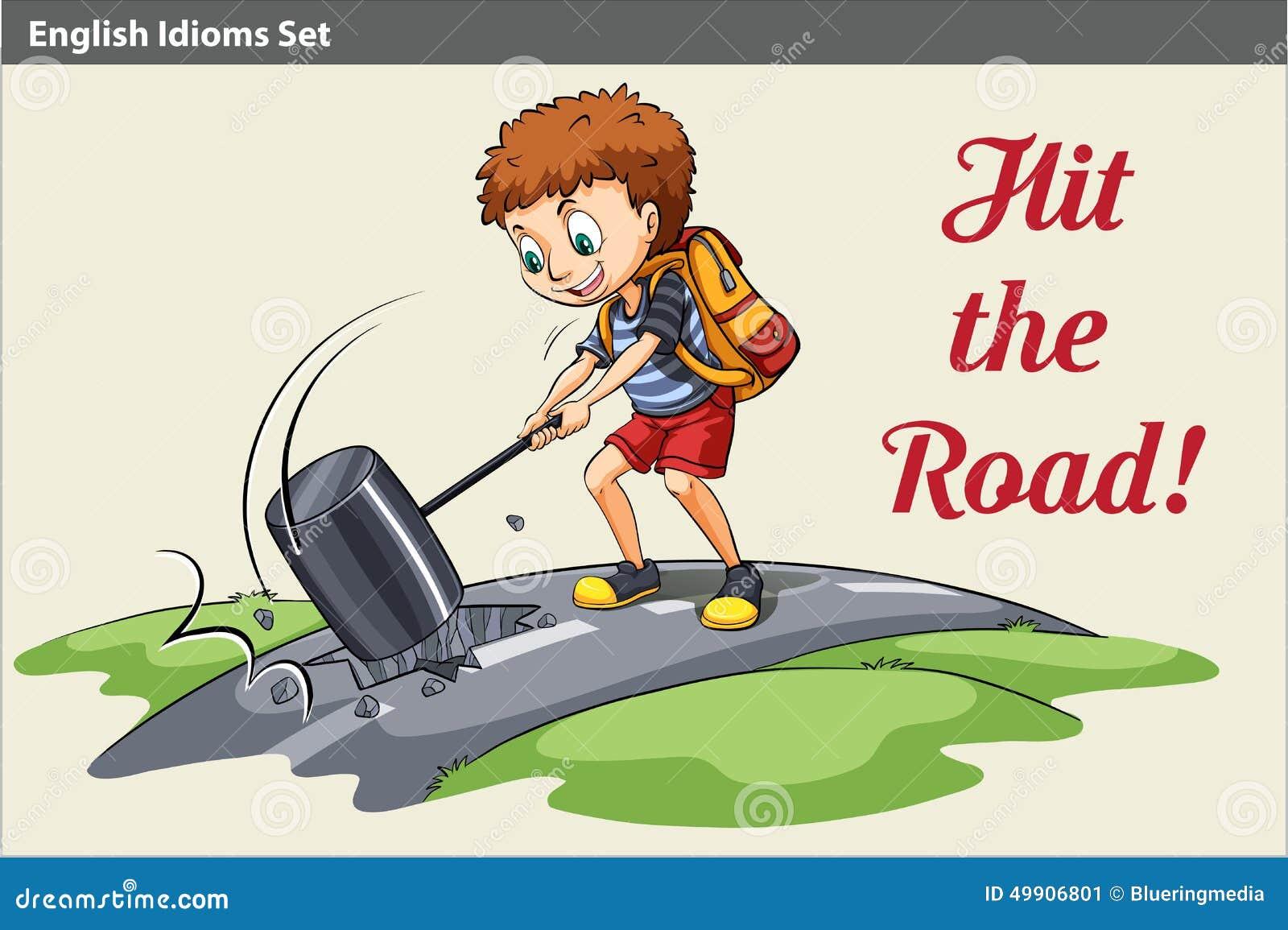 Μια αφίσα ενός αγοριού που χτυπά το δρόμο