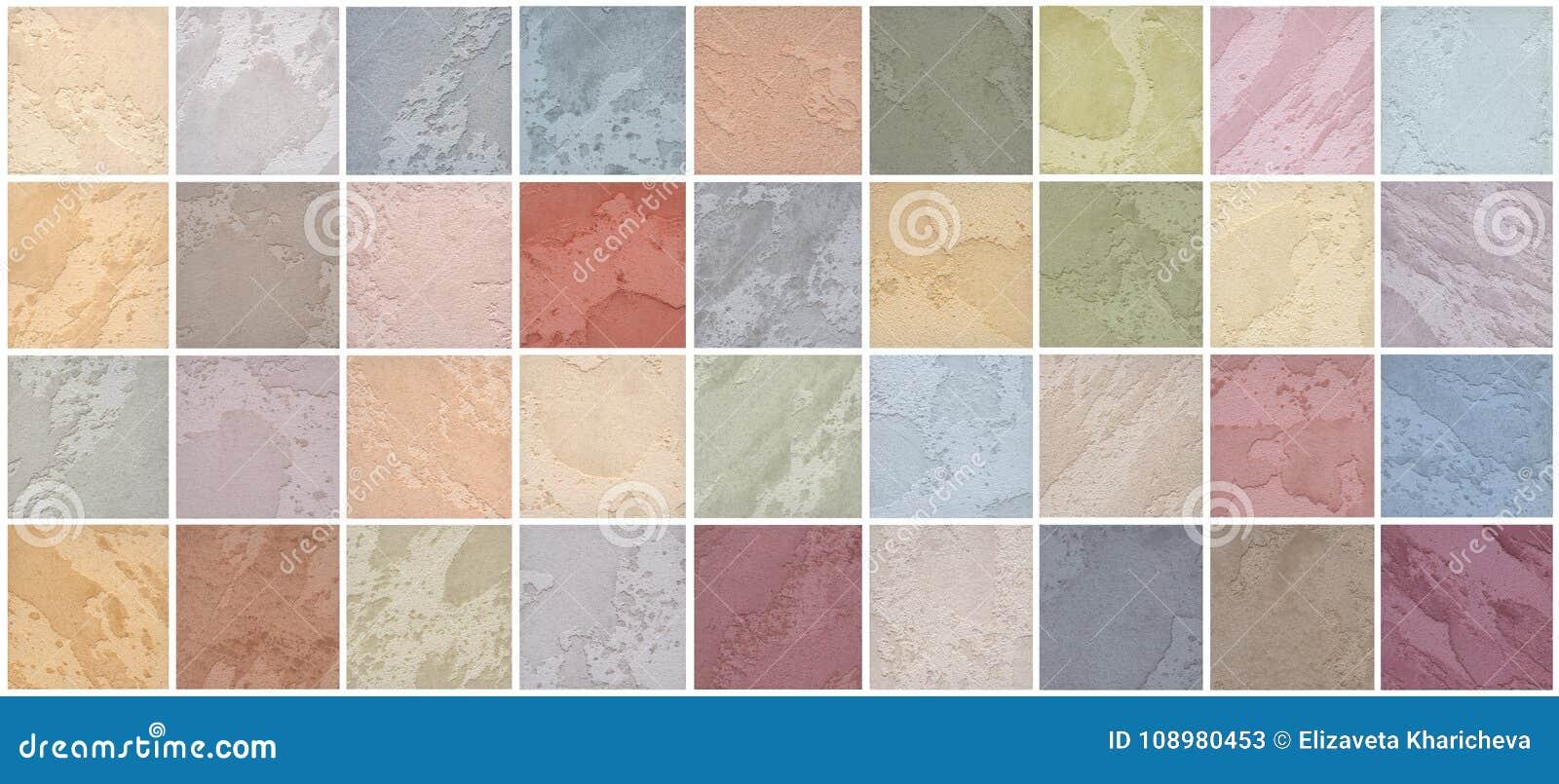 Μια παλέτα των συστάσεων του χρωματισμένου τραβερτίνη είναι μια διακοσμητική κάλυψη για τους τοίχους