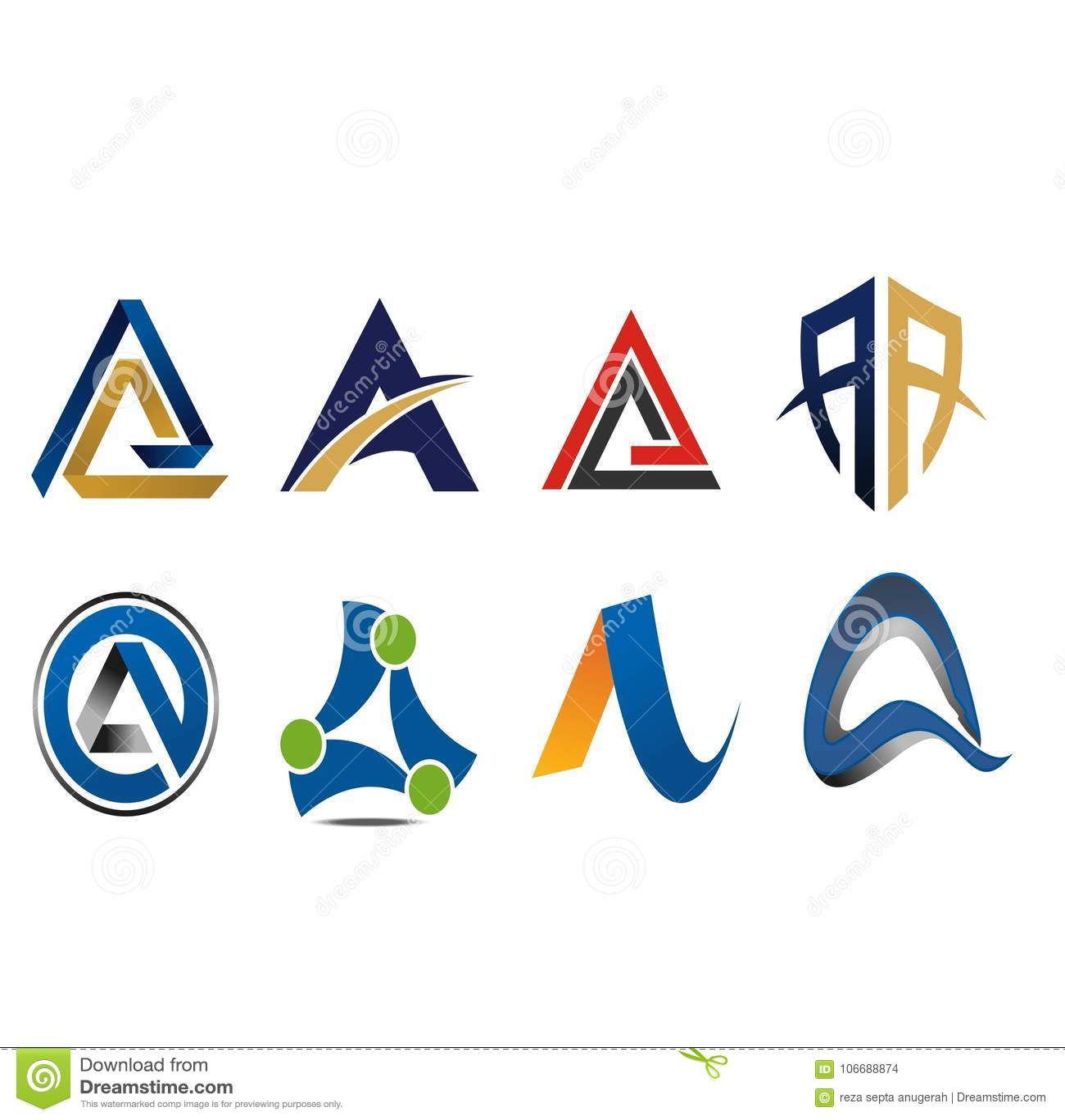 Μια παραλλαγή εικονιδίων λογότυπων επιστολών
