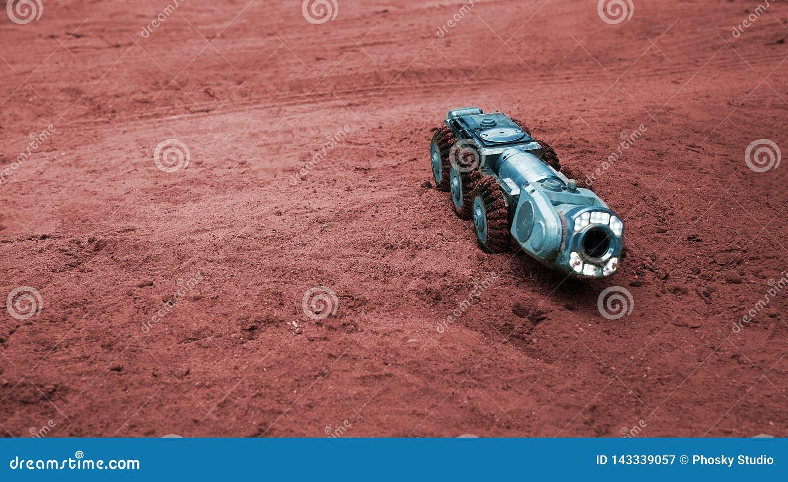 Μια πραγματική sci-Fi εικόνα, μια μηχανή στον Άρη