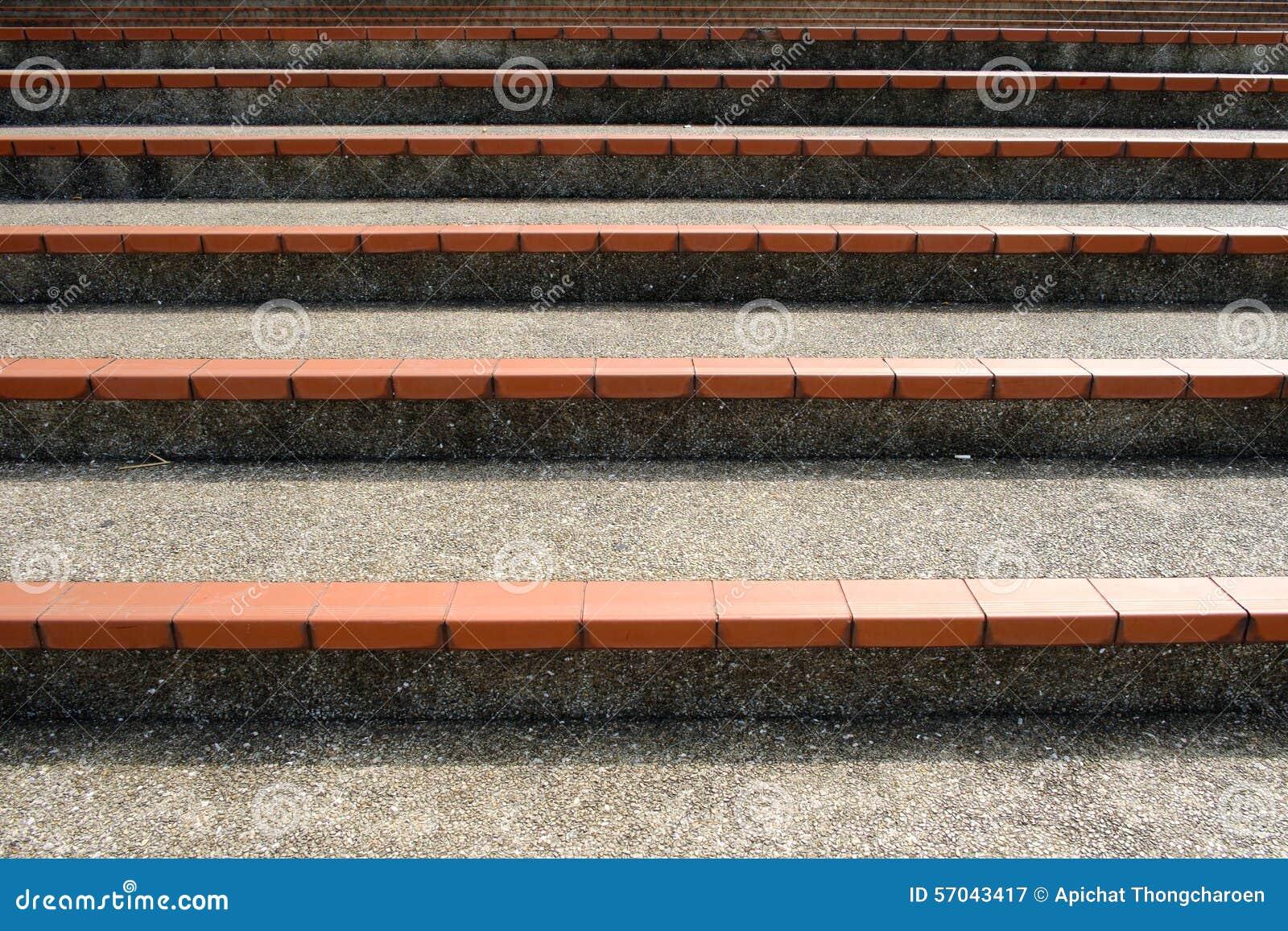 Μια σκάλα του τσιμέντου, υπαίθρια