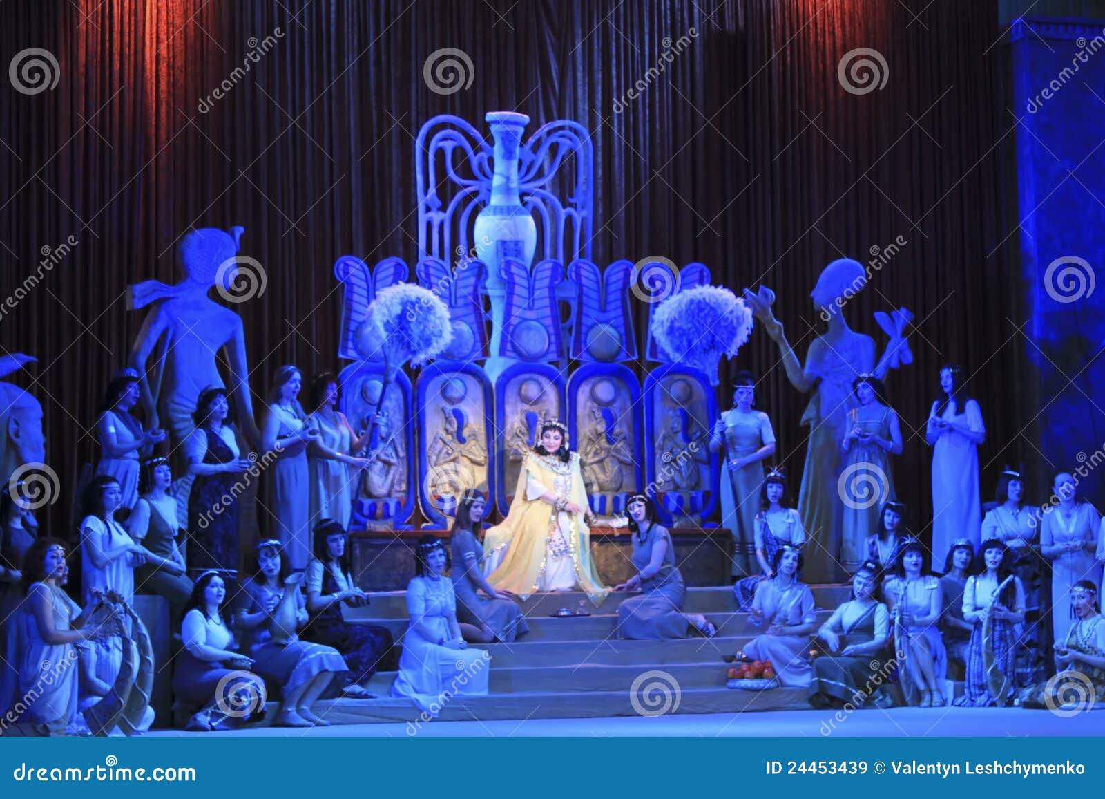 Μια σκηνή από την όπερα Aida