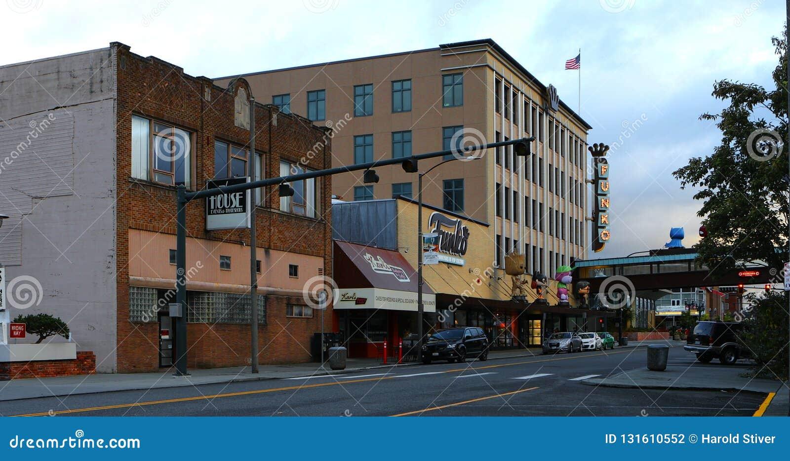 Μια σκηνή οδών στο Everett, Ουάσιγκτον