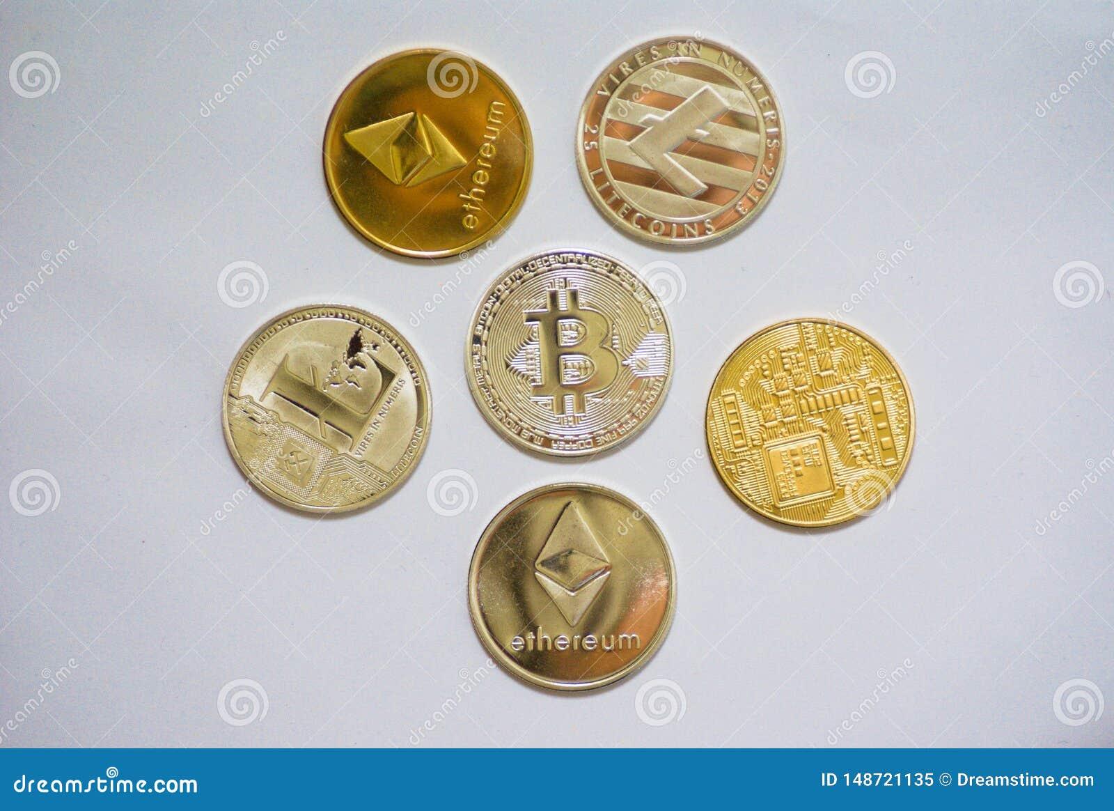 Μια συλλογή των νομισμάτων cryptocurrency