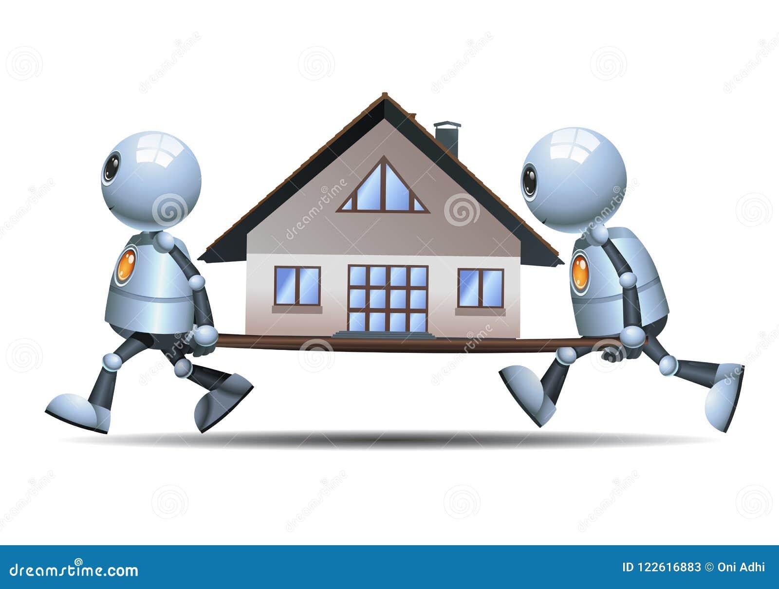 Μικρά ρομπότ που κινούν το μικρό σπίτι