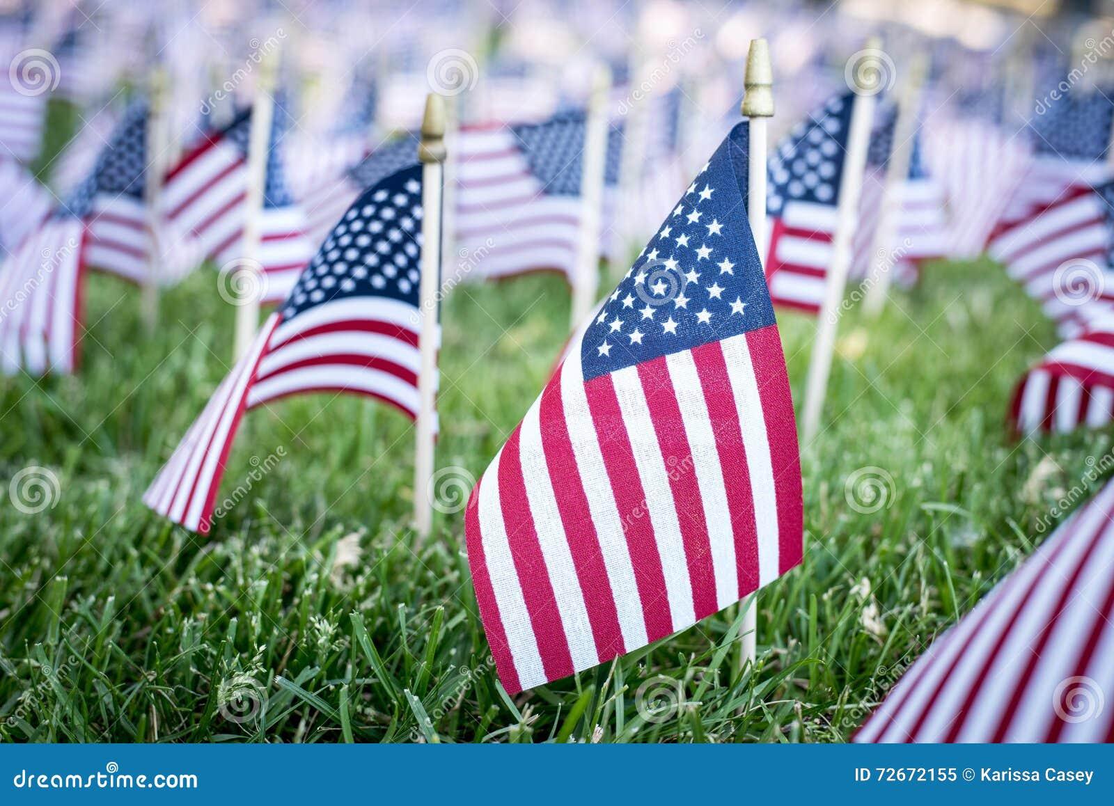 Μικρές αμερικανικές σημαίες