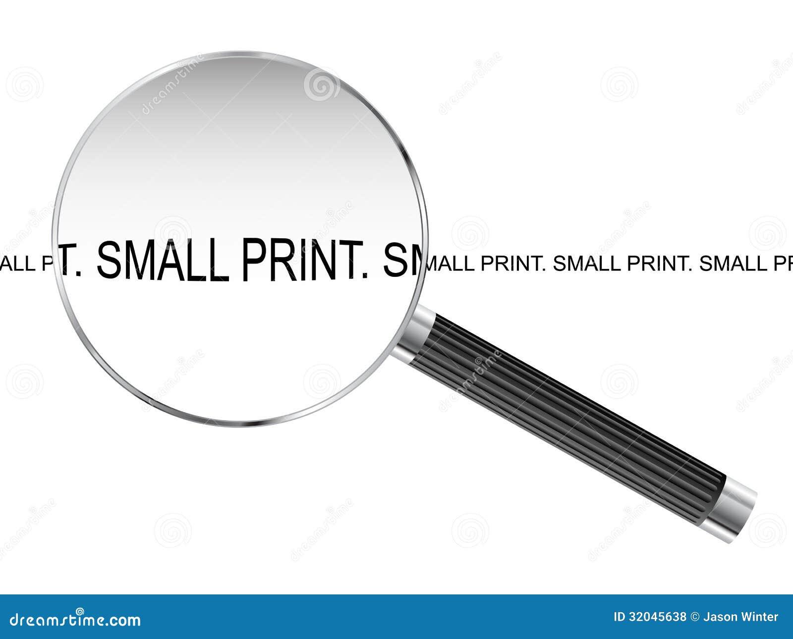 Μικρή τυπωμένη ύλη που ενισχύει - γυαλί