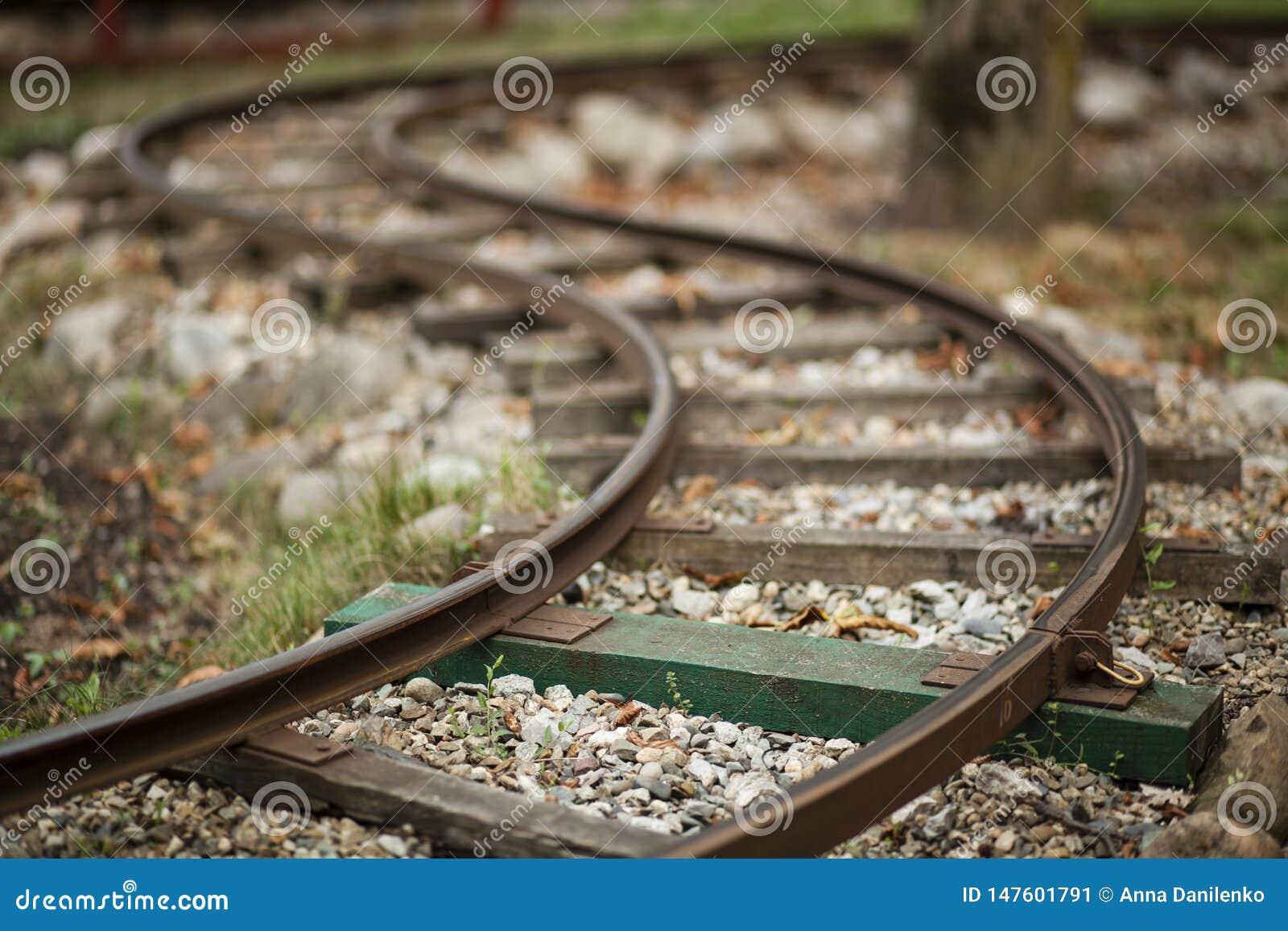 Μικροσκοπικός κυρτός σιδηρόδρομος τραίνων
