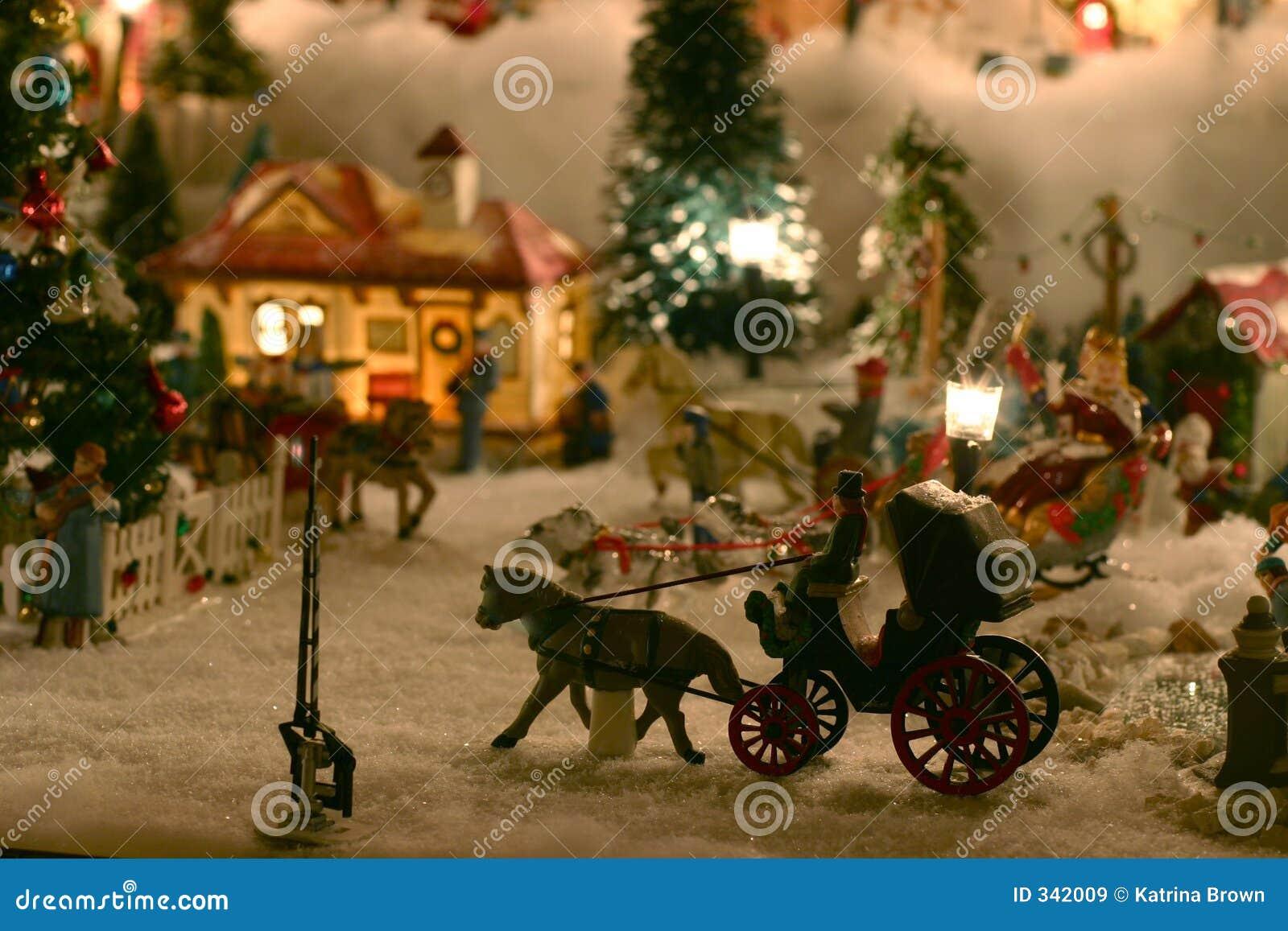 μικροσκοπικό χωριό Χριστουγέννων