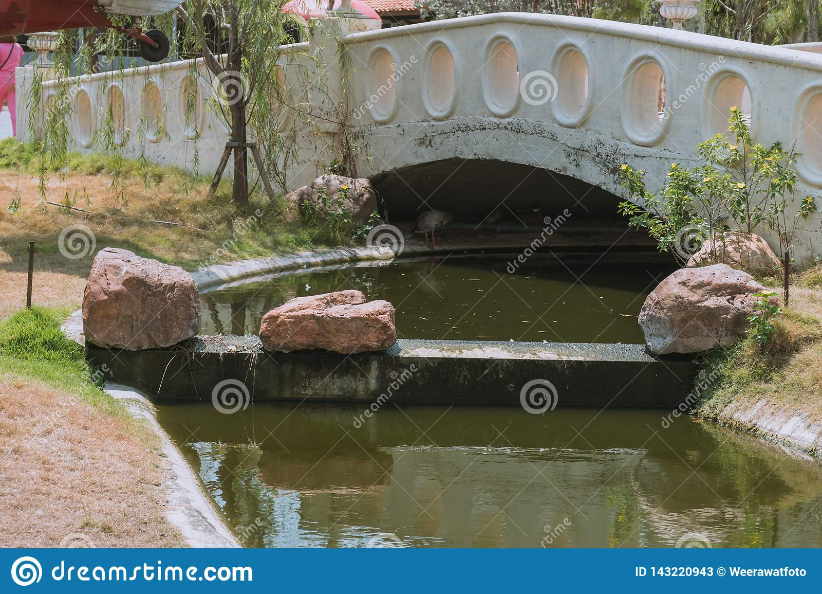 Μικρό κανάλι στο πάρκο