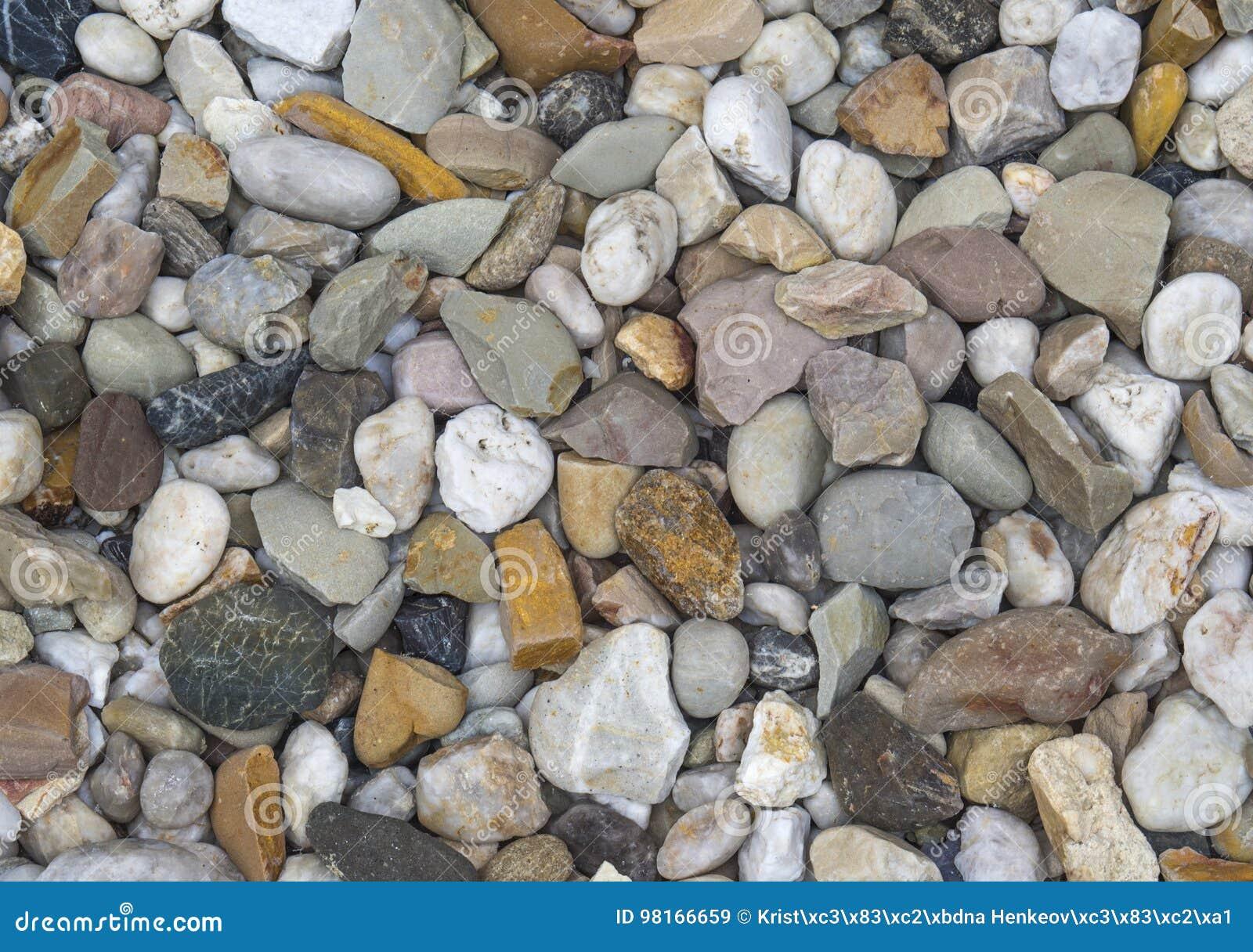 Μικρό πολυ υπόβαθρο πετρών χαλικιών χρώματος